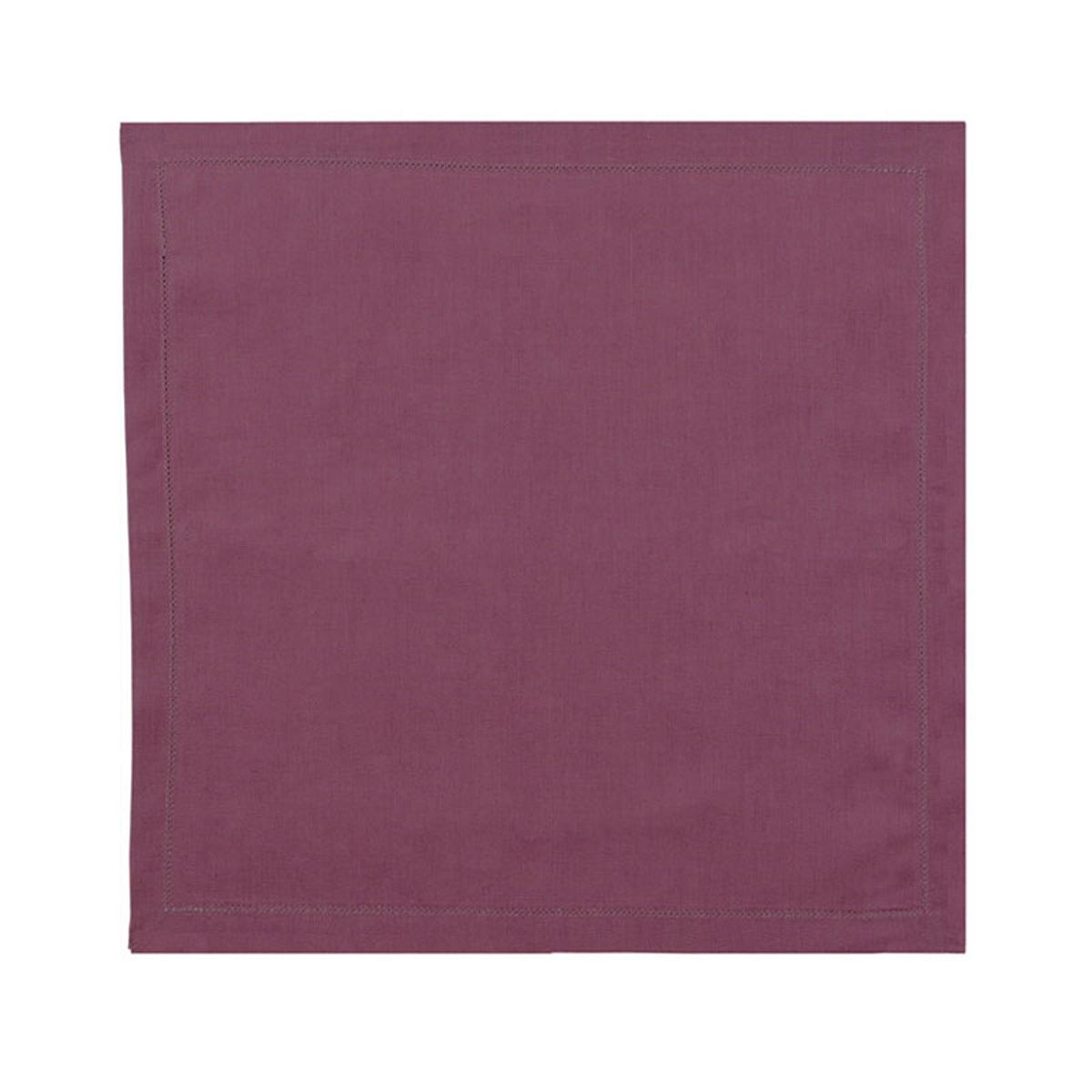 Serviette de table en lin violet 45x45
