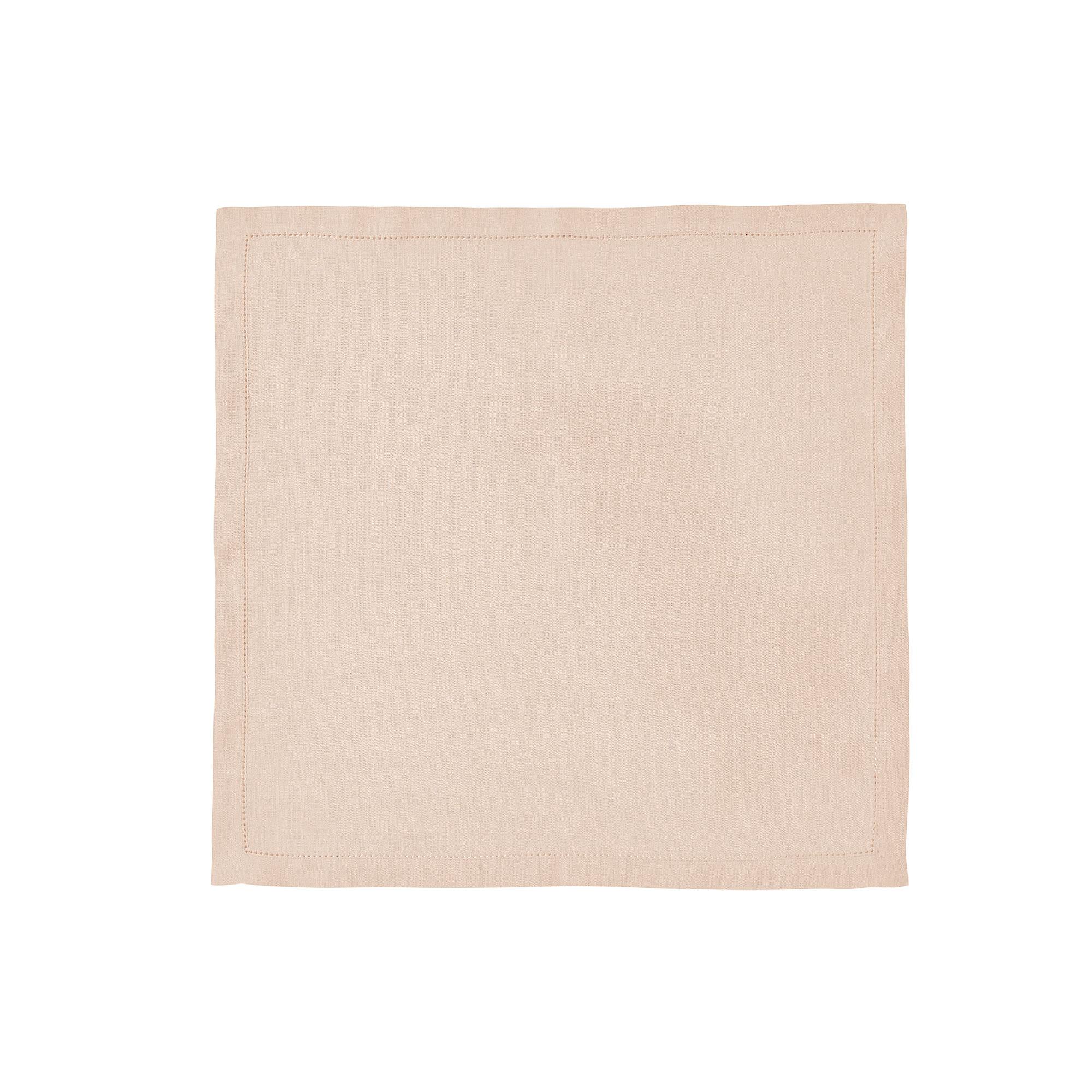 Serviette de table en lin rose 50x50