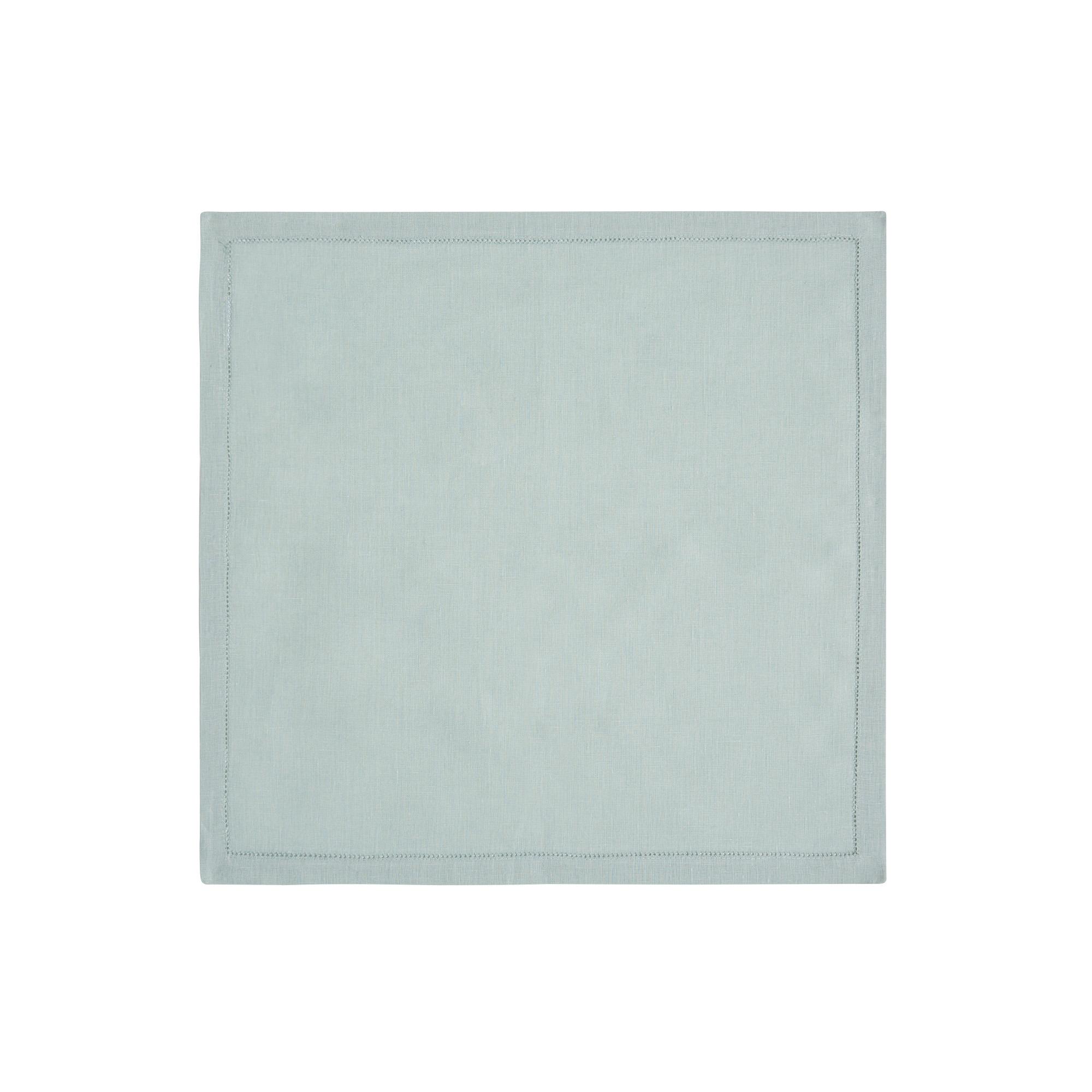 Serviette de table en lin vert sauge 50x50