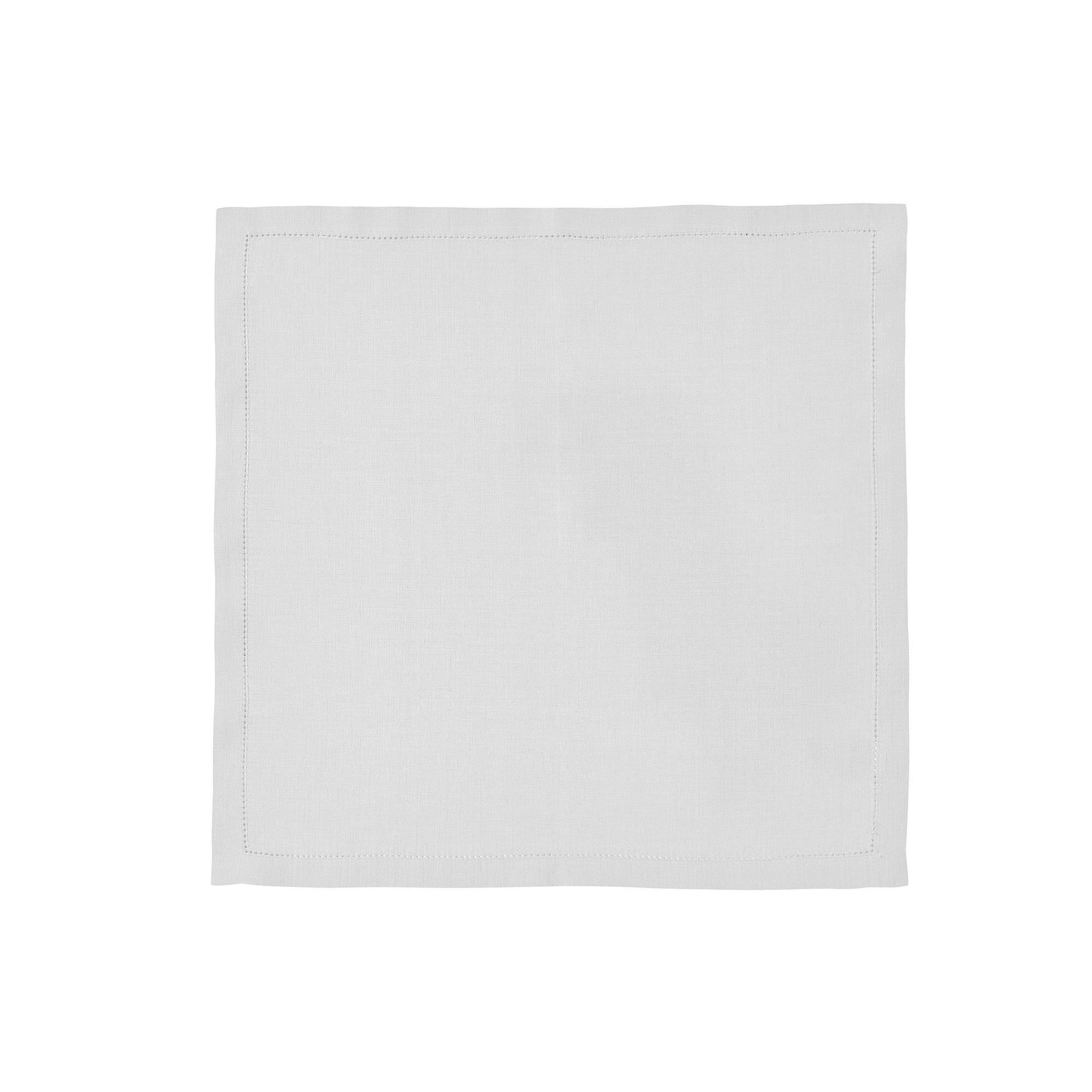 Serviette de table en lin gris 45x45
