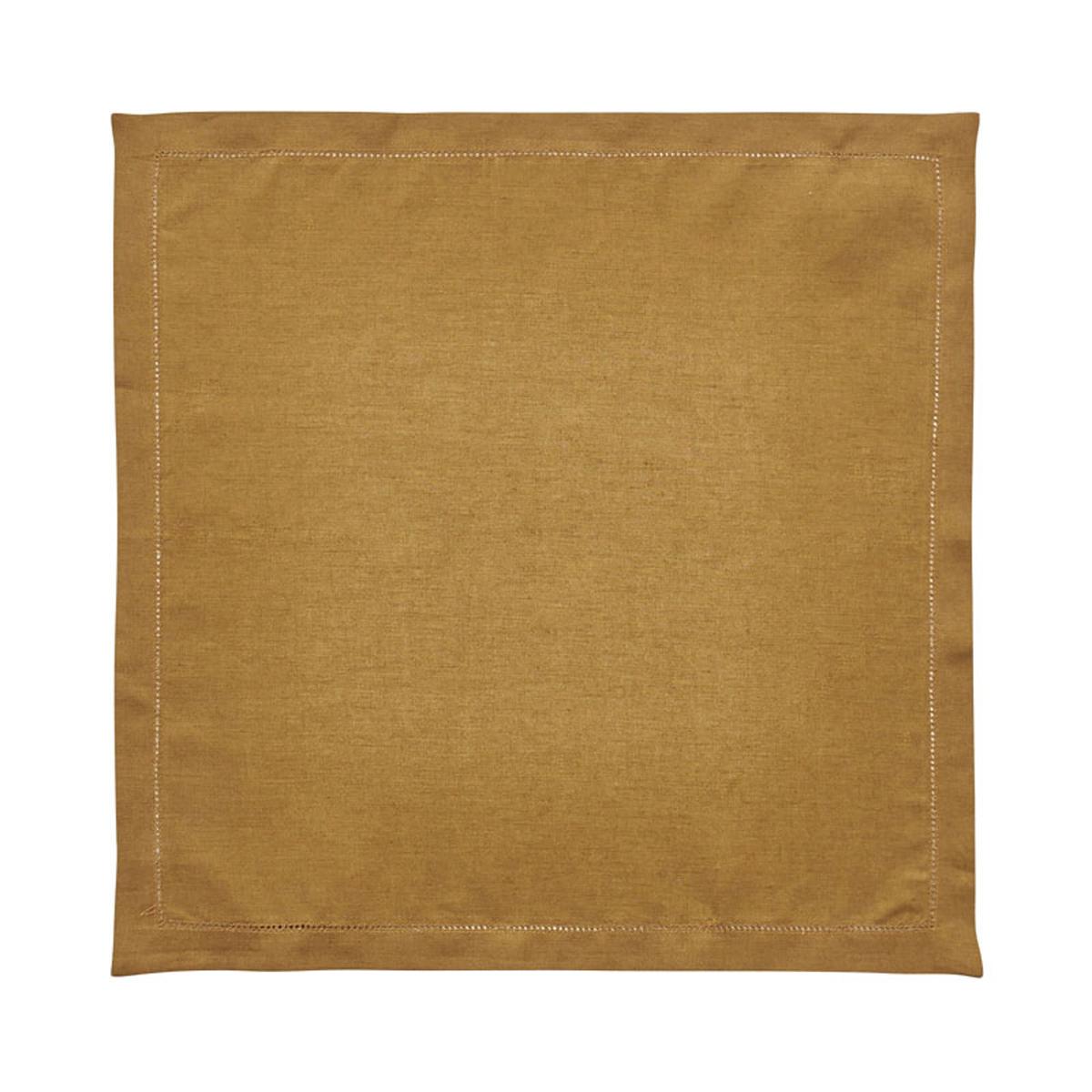Serviette de table en lin marron 50x50