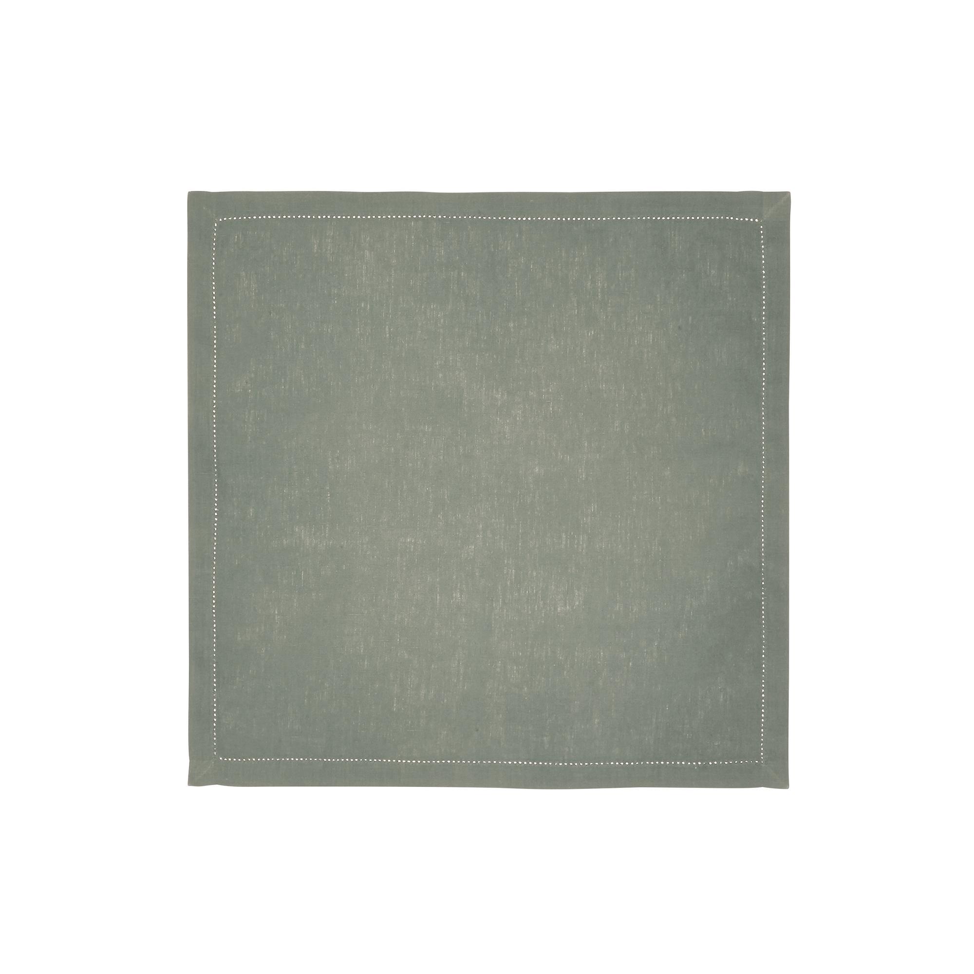 Serviette de table en lin vert 45x45