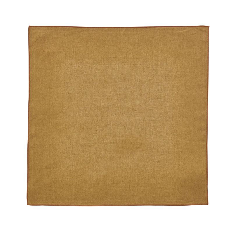 Serviette de table en lin marron 35x35