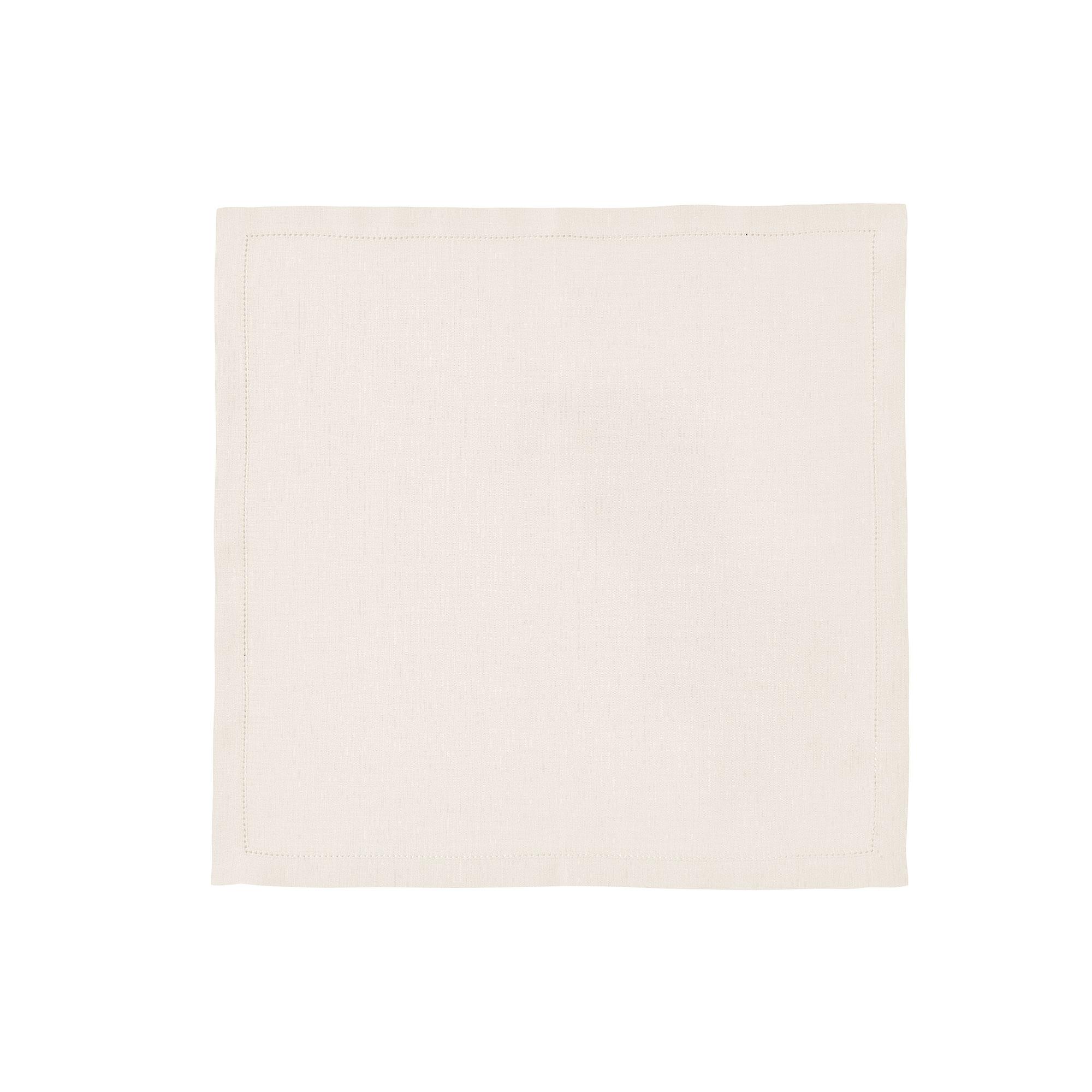 Serviette de table en lin blanc 50x50