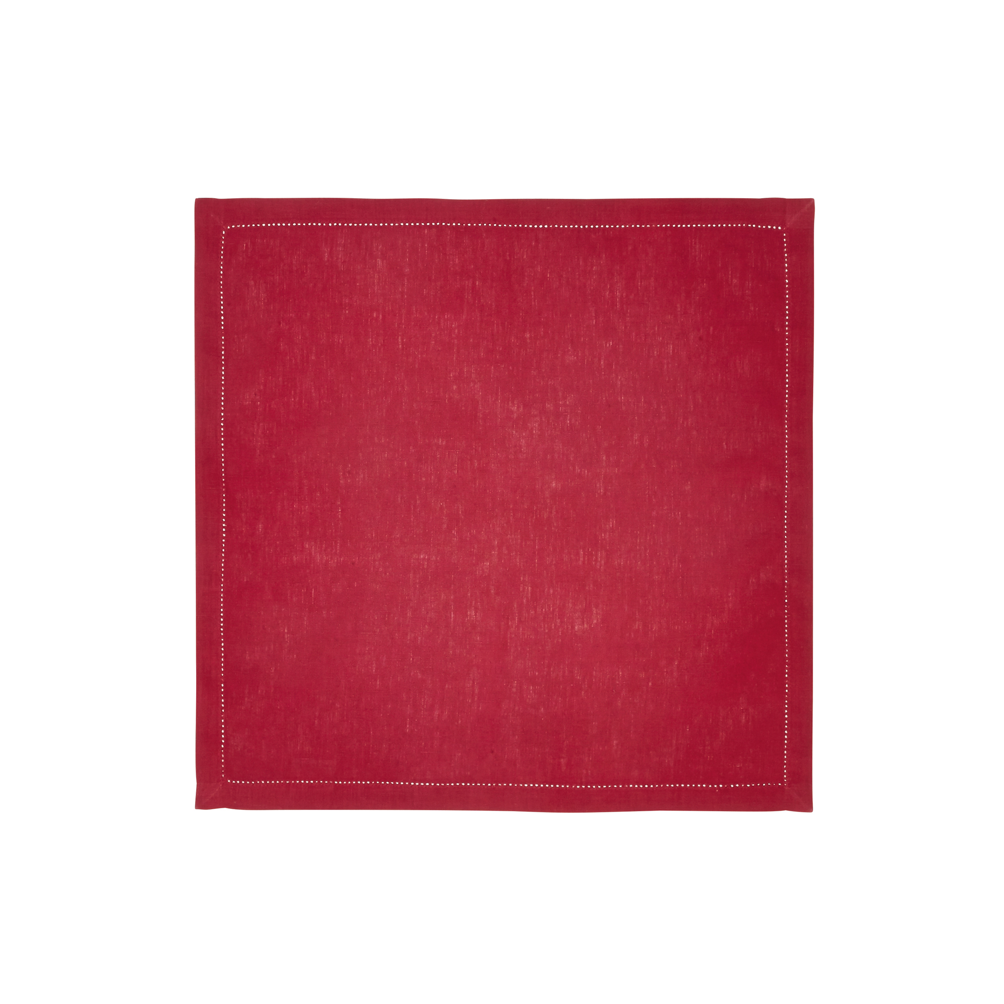 Serviette de table en lin rouge 50x50