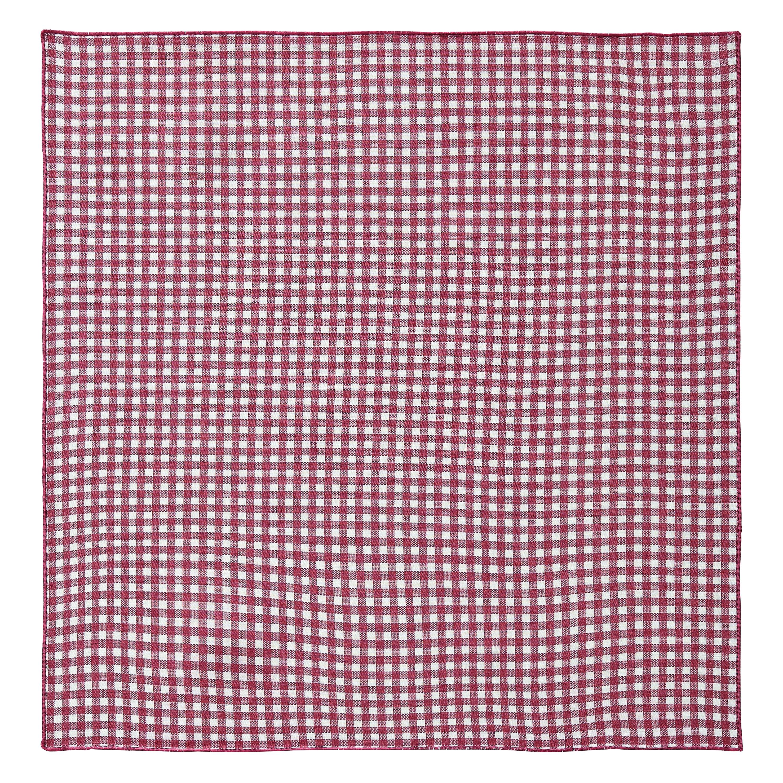 Serviette de table en lin rouge 45x45