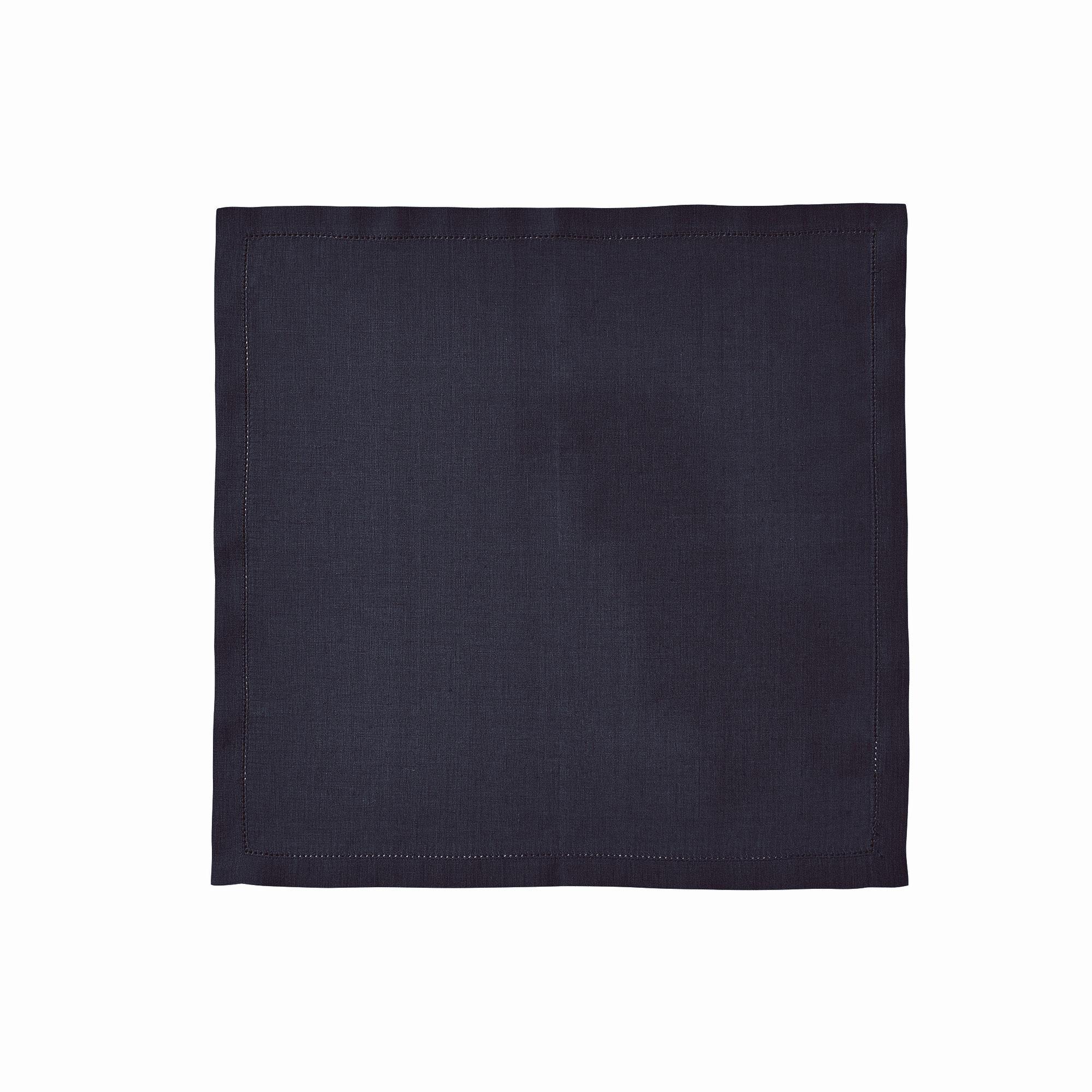 Serviette de table en lin bleu 45x45
