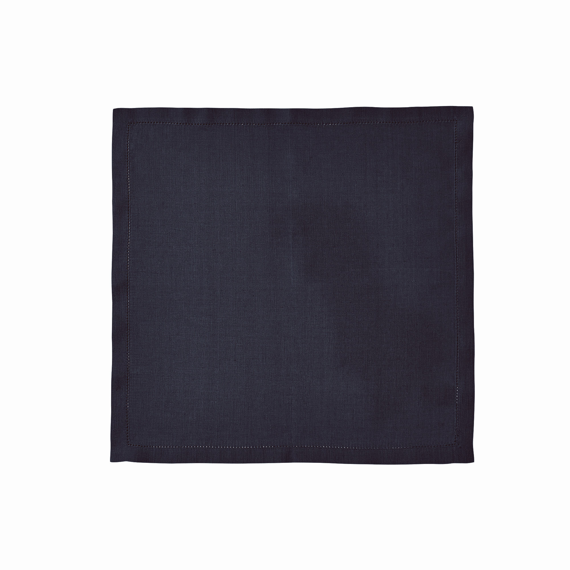 Serviette de table en lin bleu 50x50