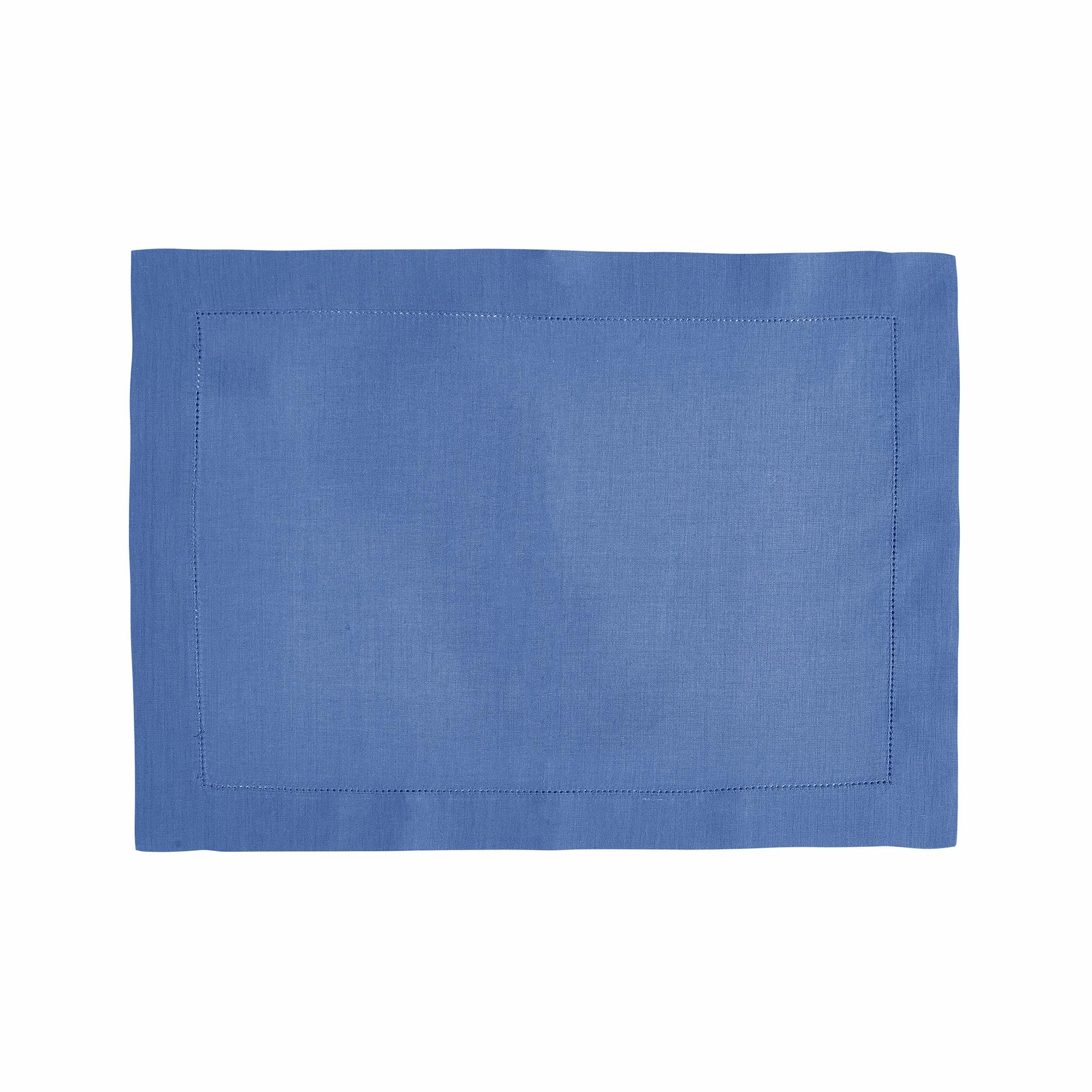 Set de table en lin bleu 37x50