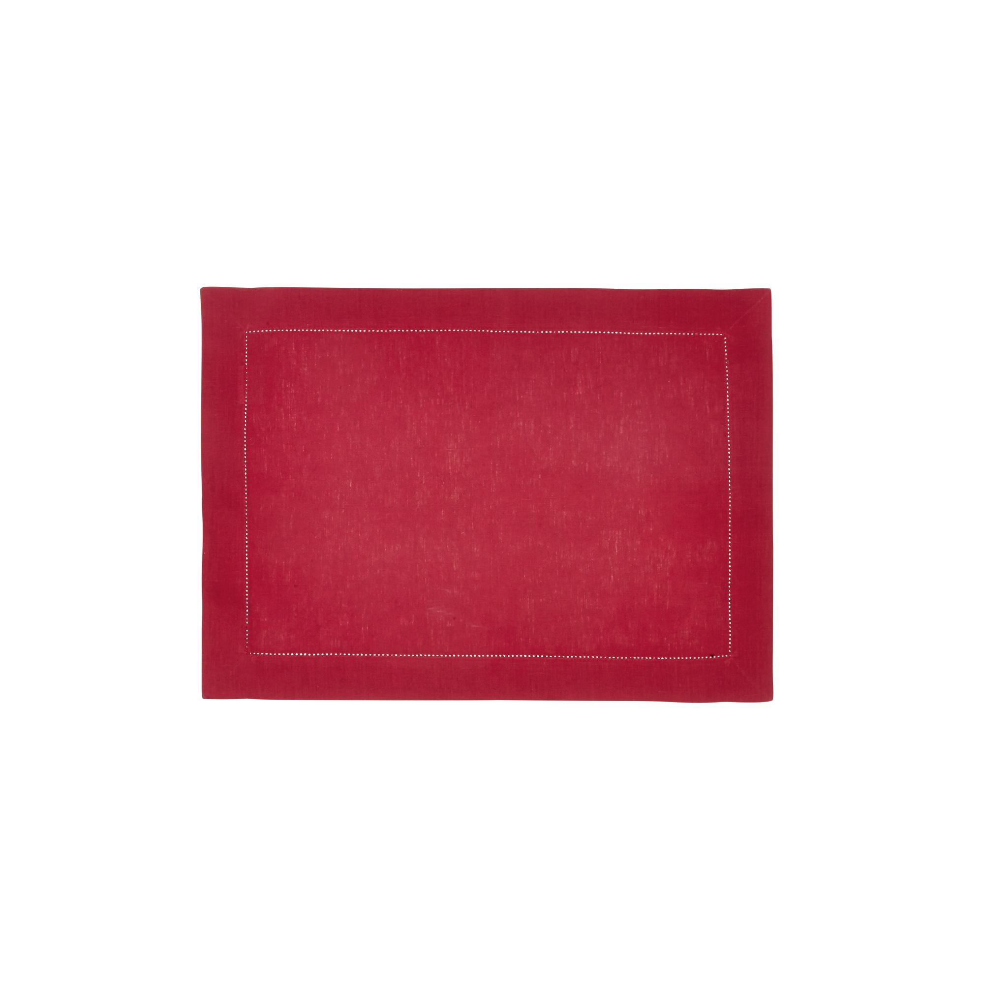 Set de table en lin rouge 37x50