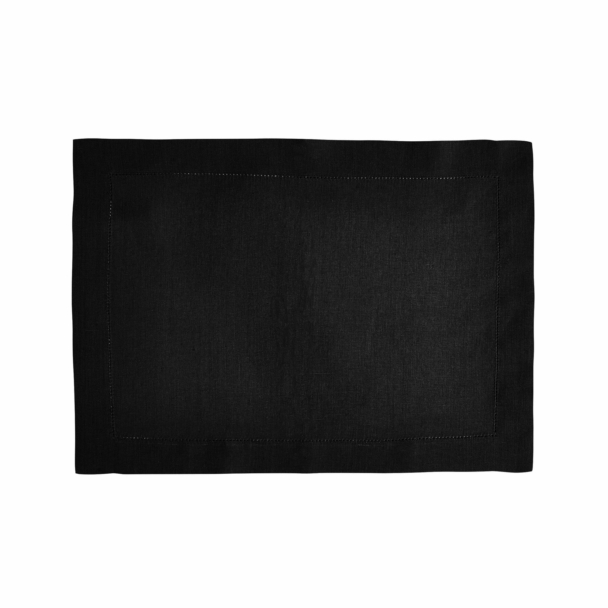 Set de table en lin noir 37x50