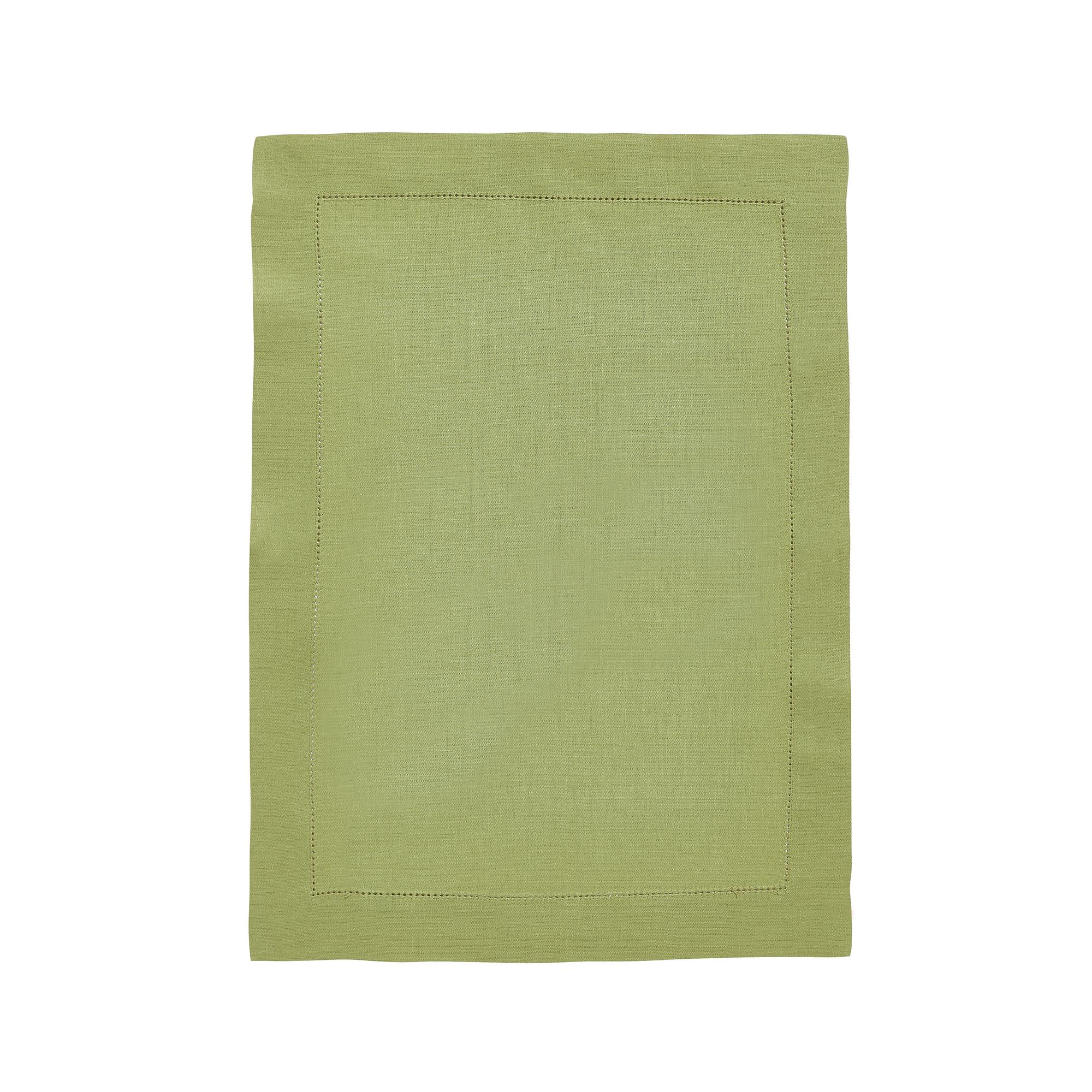 Set de table en lin vert platane 37x50