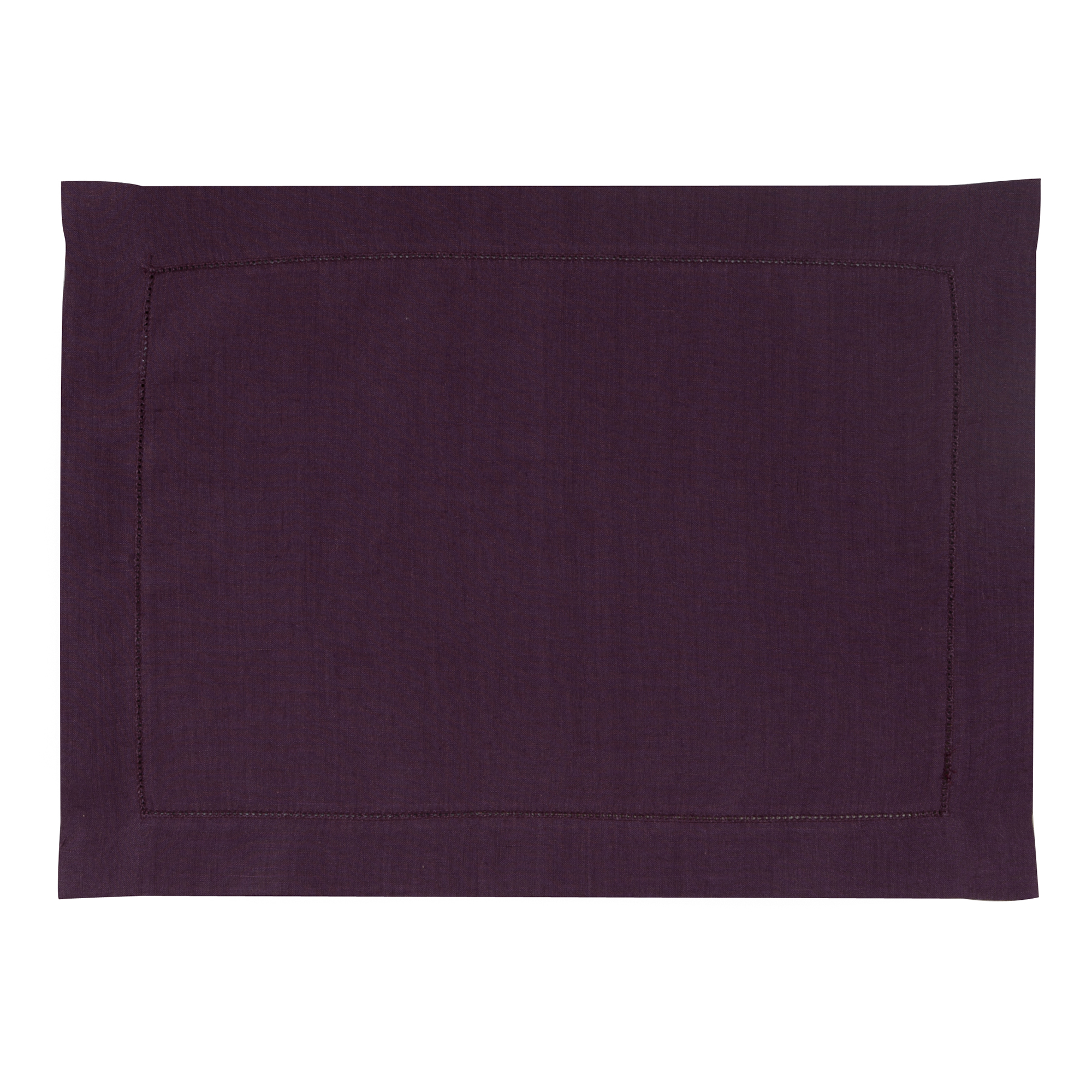 Set de table en lin violet 37x50
