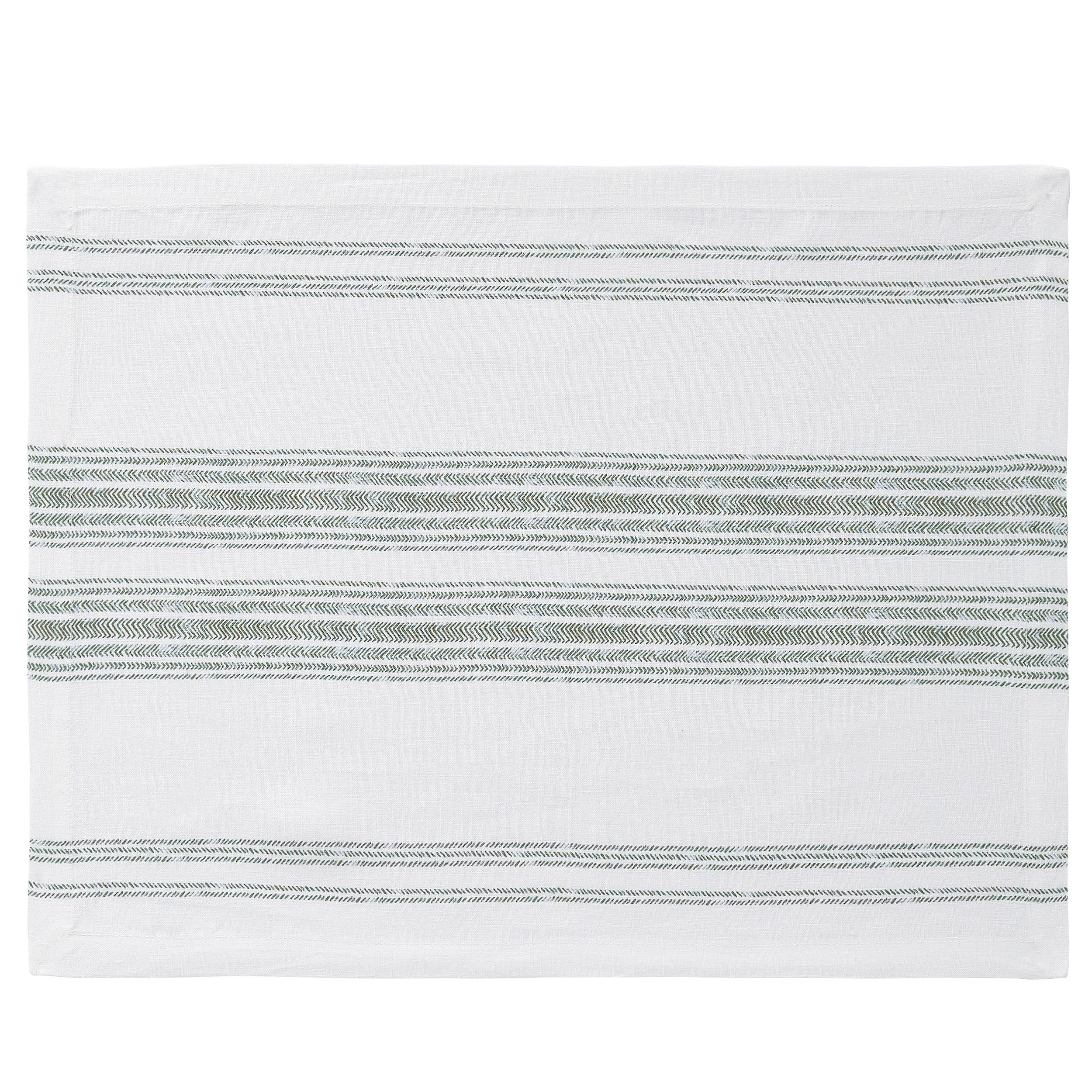 Set de table en lin vert 37x50