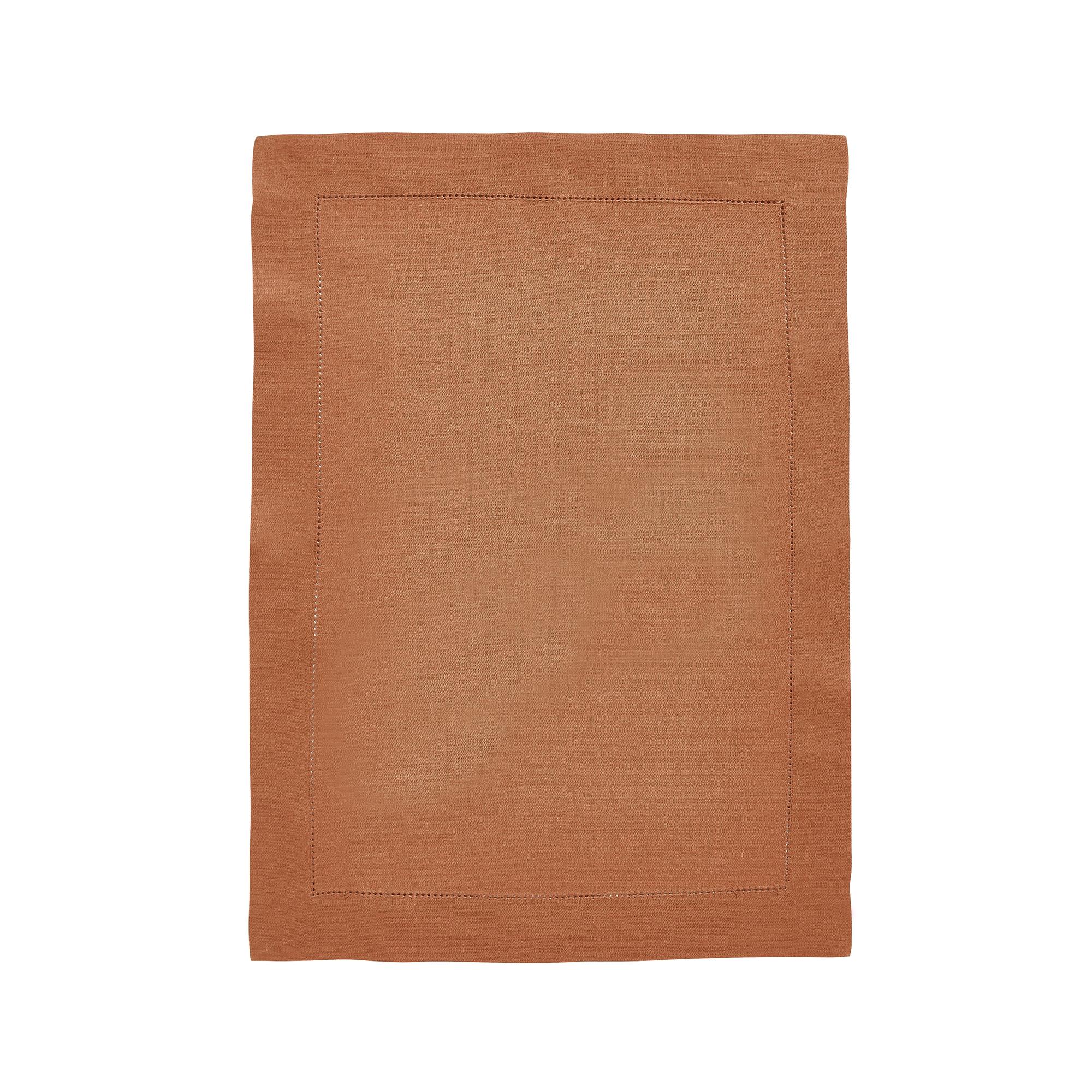 Set de table en lin marron cuivre 37x50
