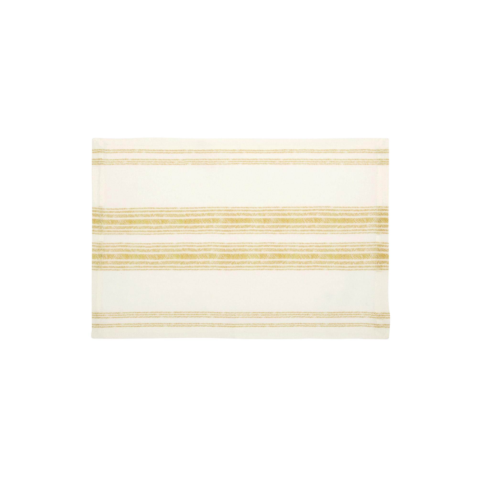 Set de table en lin jaune ocre 37x50