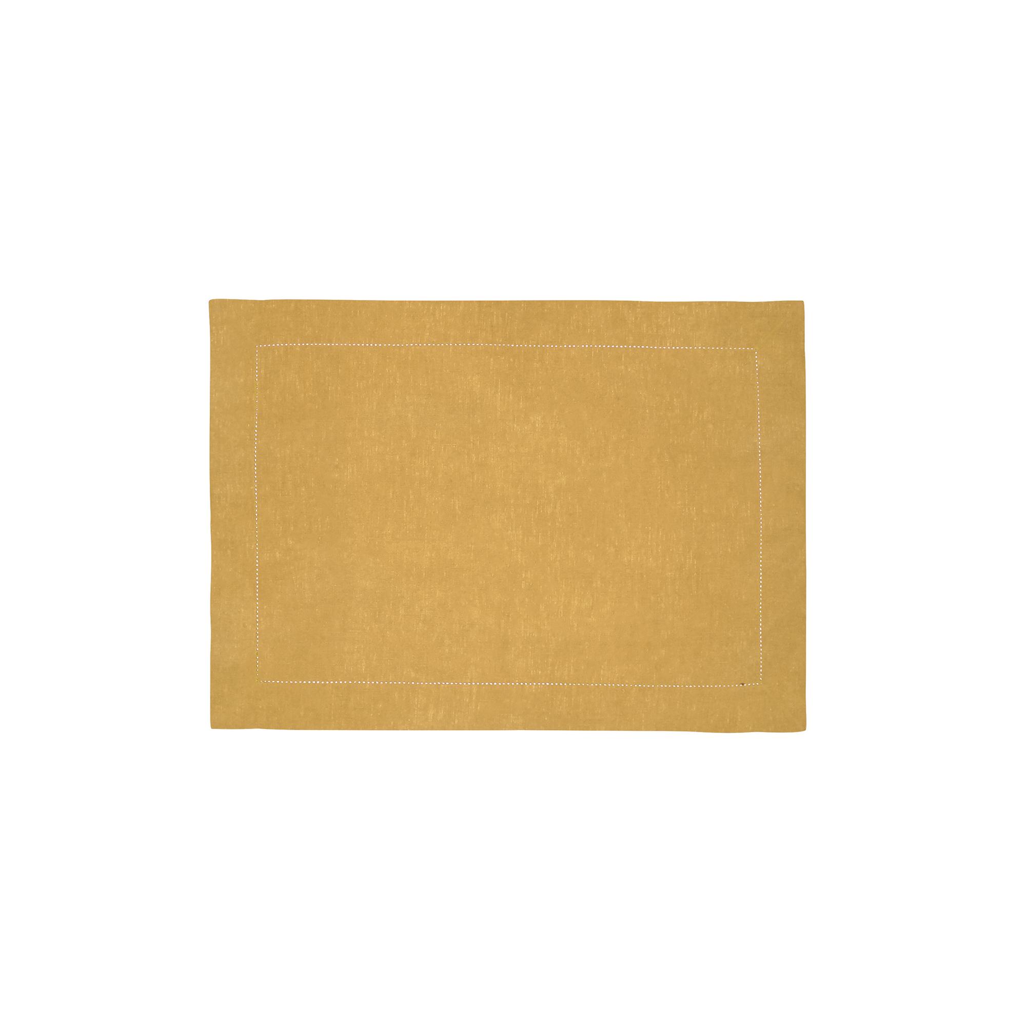 Set de table en lin jaune 37x50