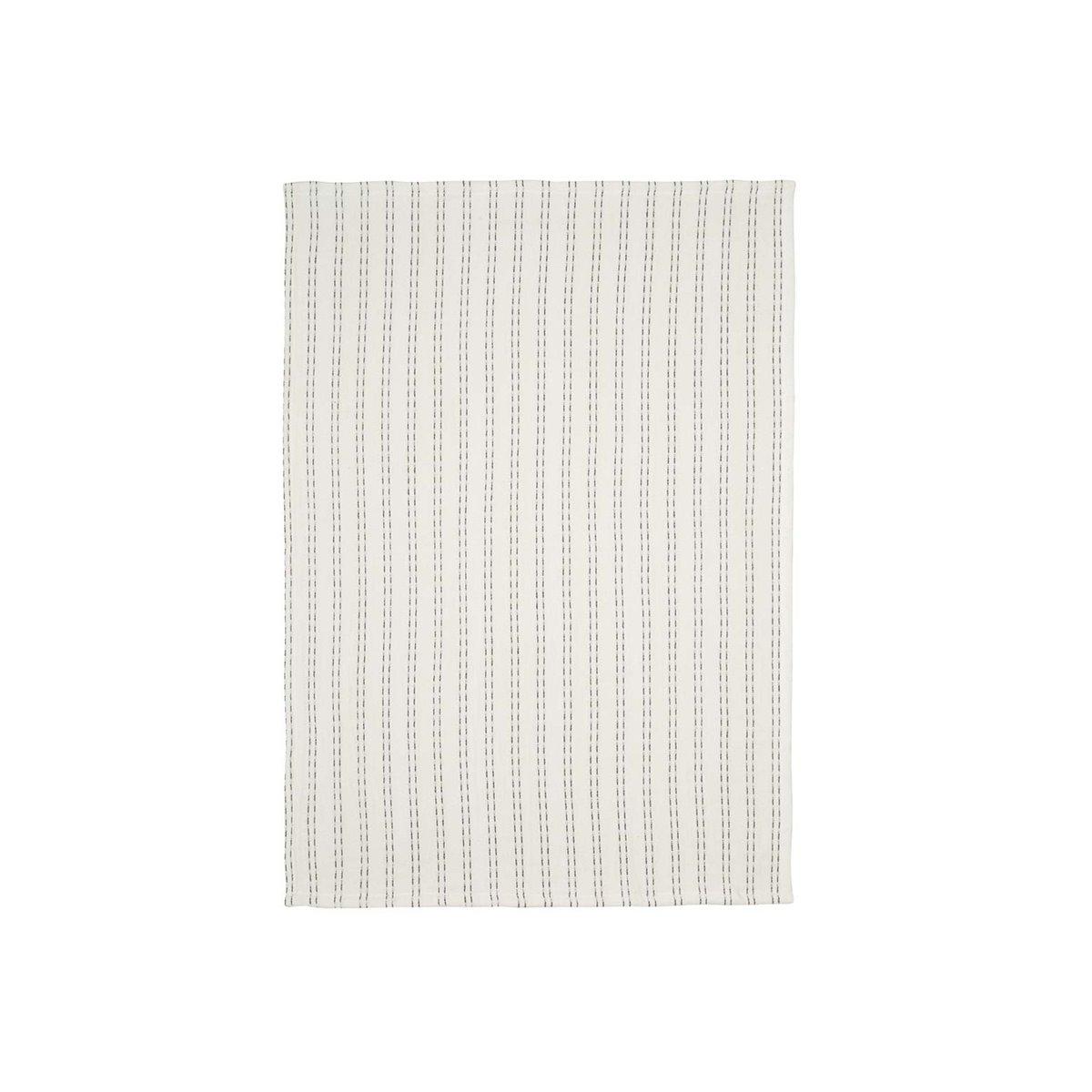 Torchon en lin/coton blanc 50x70
