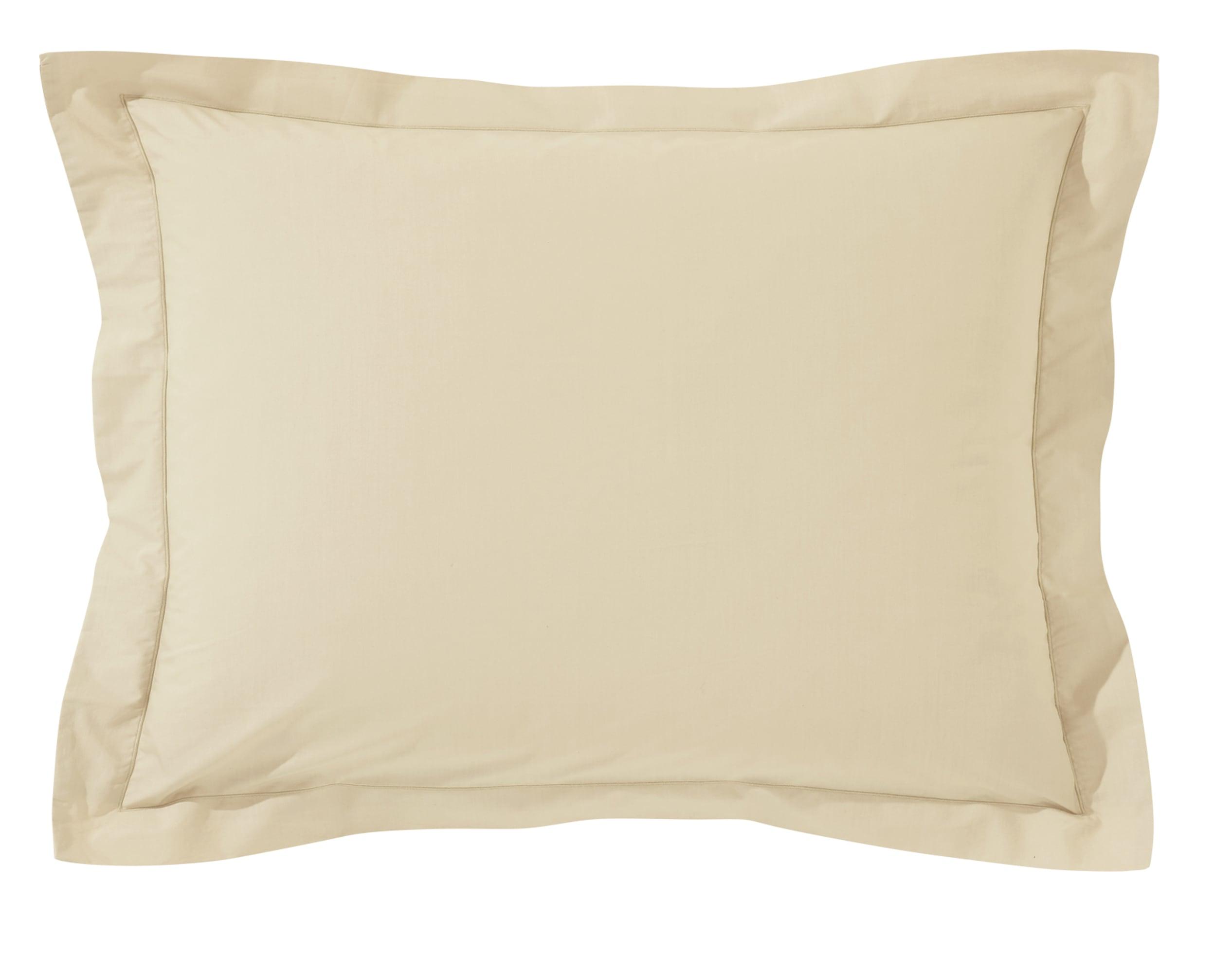 Taie d'oreiller 50x70 en percale de coton  beige sable