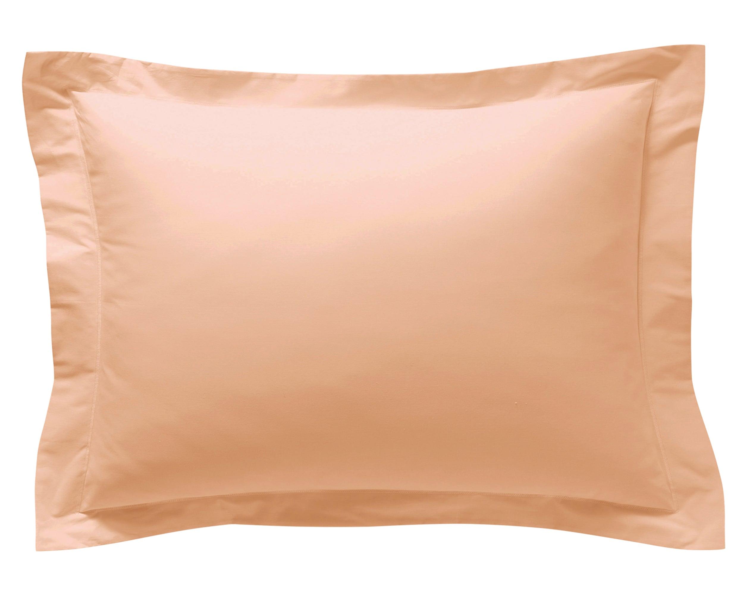 Taie d'oreiller 50x70 en percale de coton  rose nude