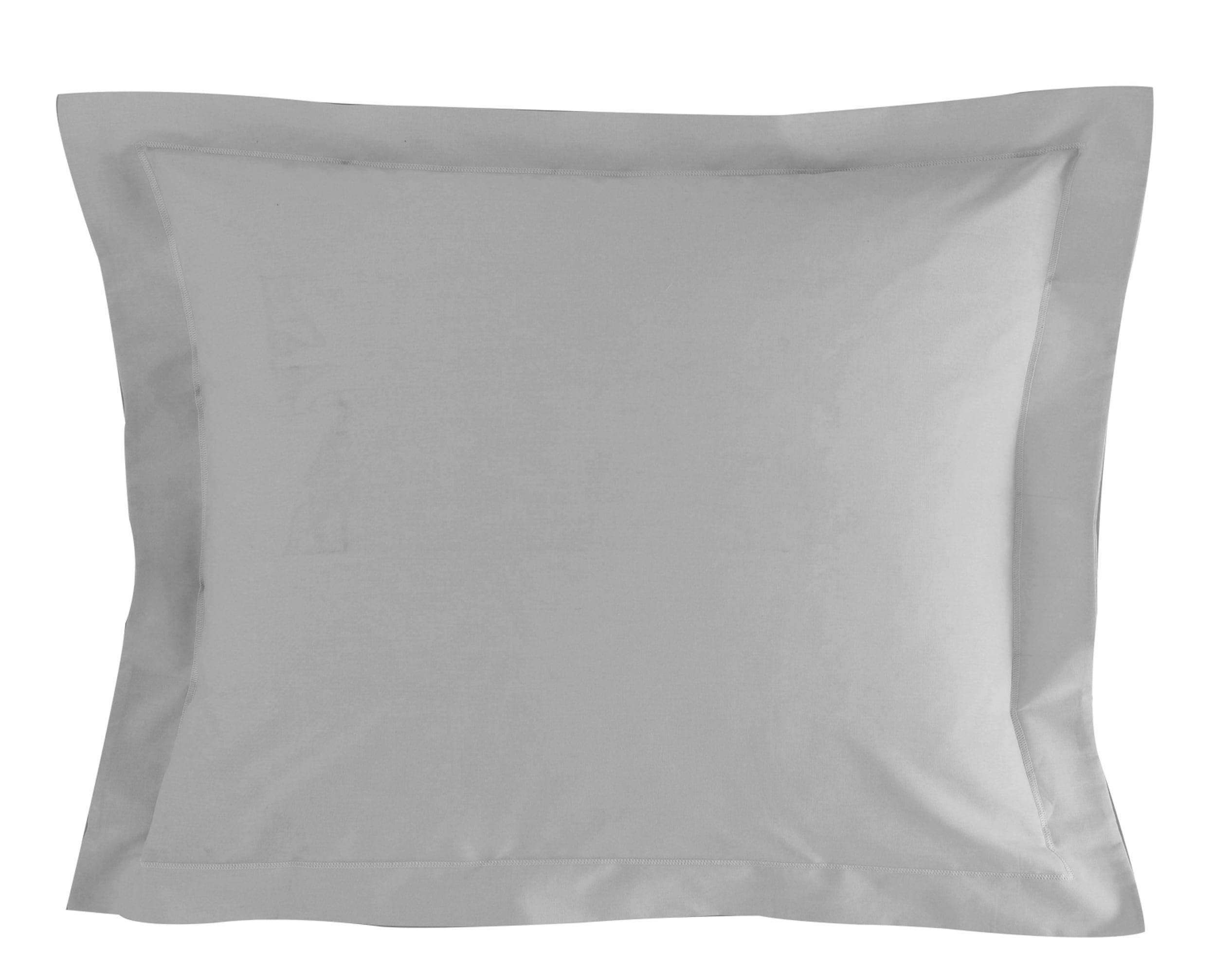 Taie d'oreiller 50x70 en percale de coton  gris brume