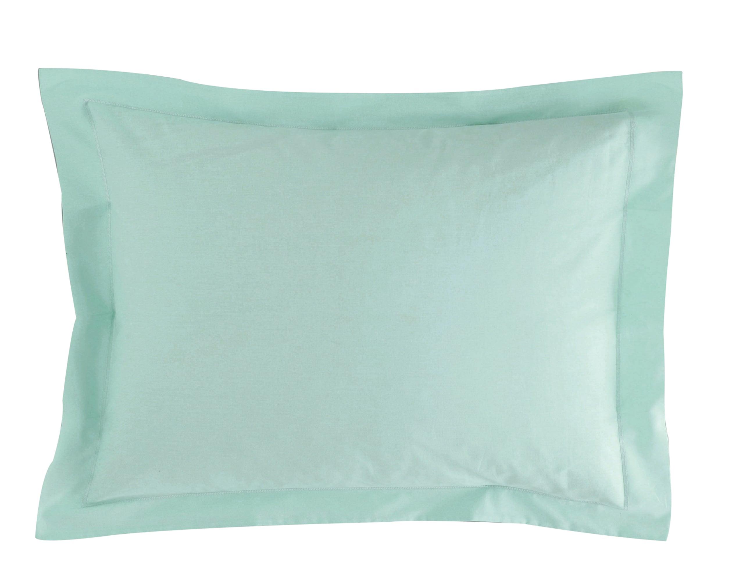 Taie d'oreiller 50x70 en percale de coton  vert céladon