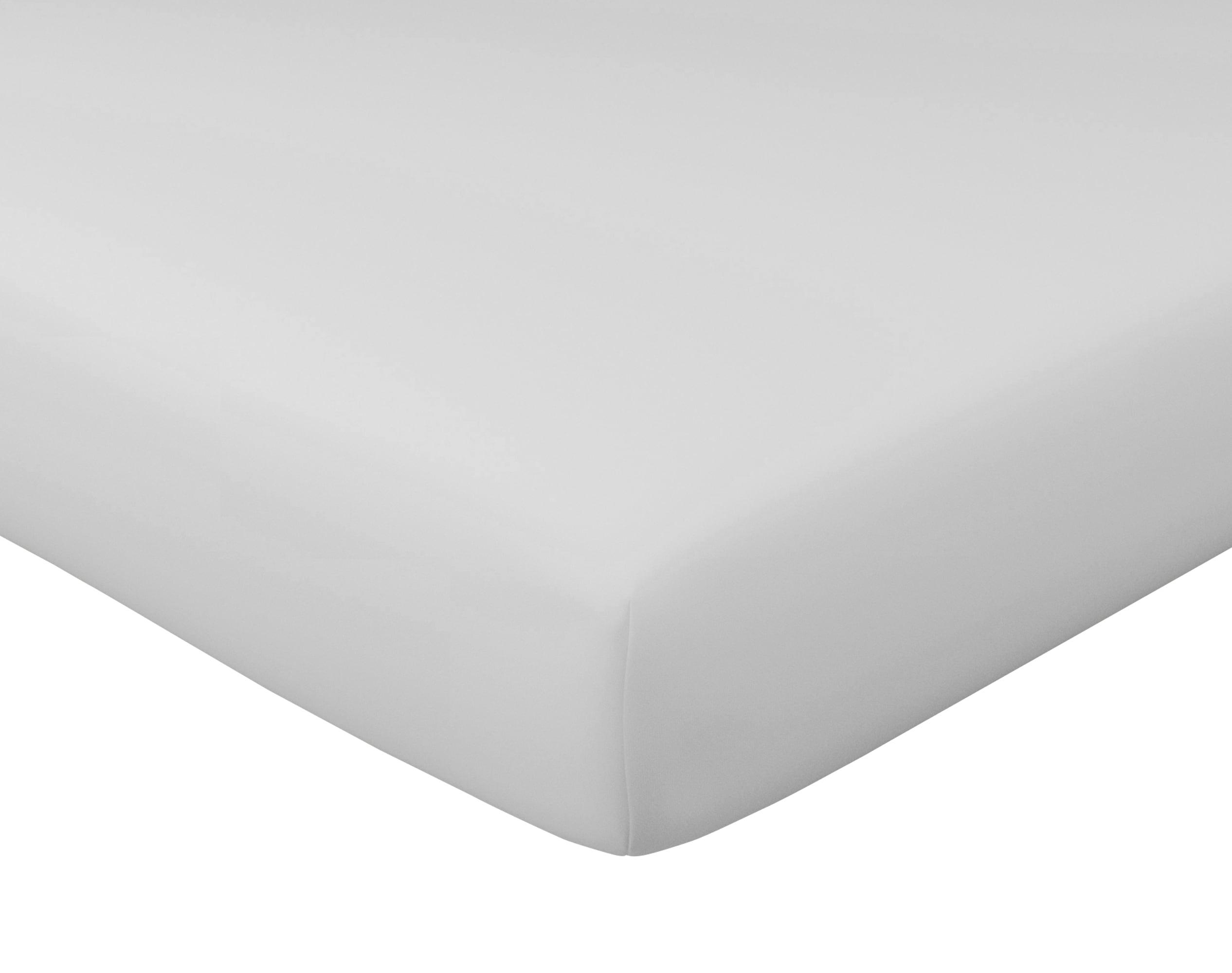 Drap-housse 90x190 en percale de coton gris brume