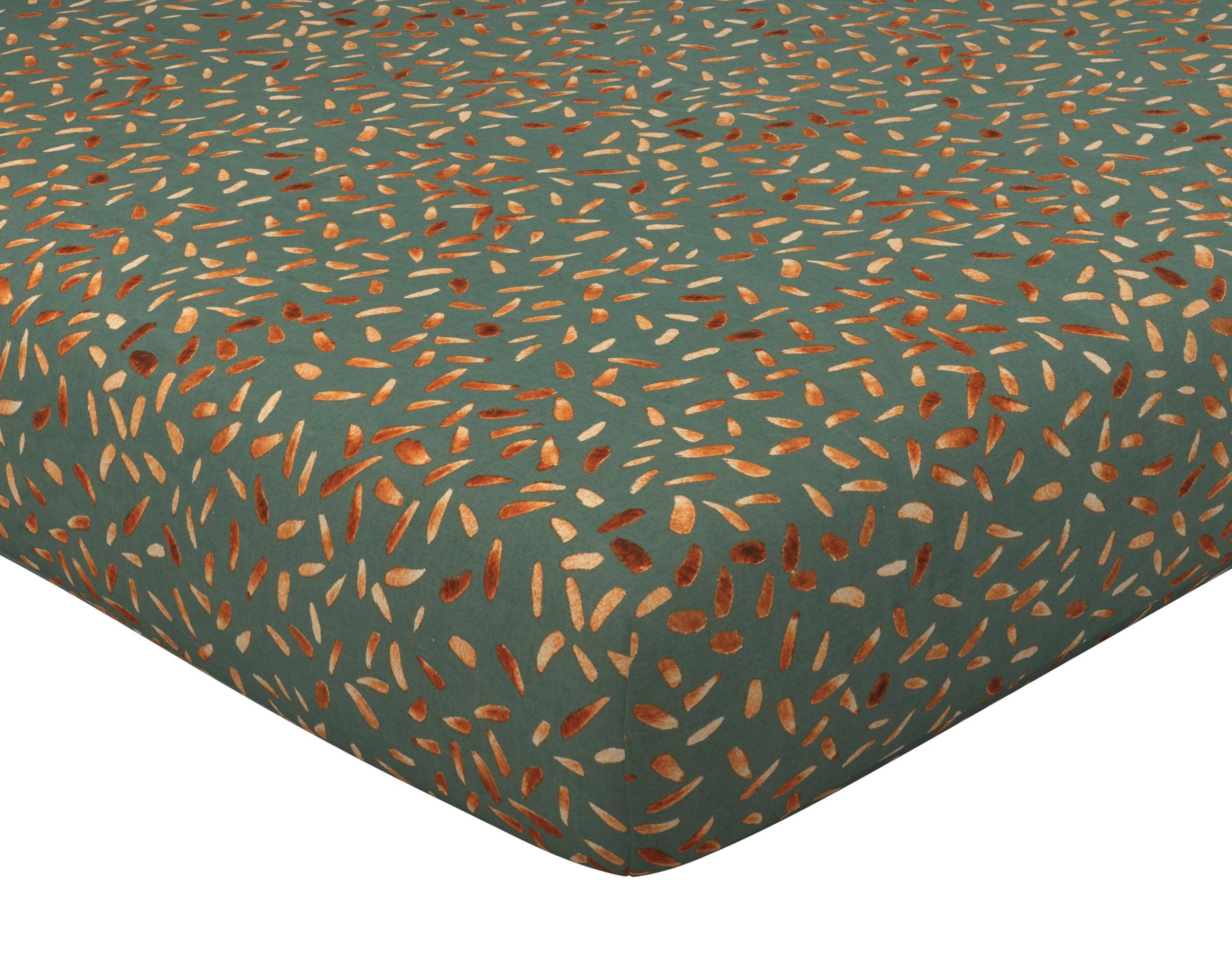 Drap-housse 140x190 en coton vert