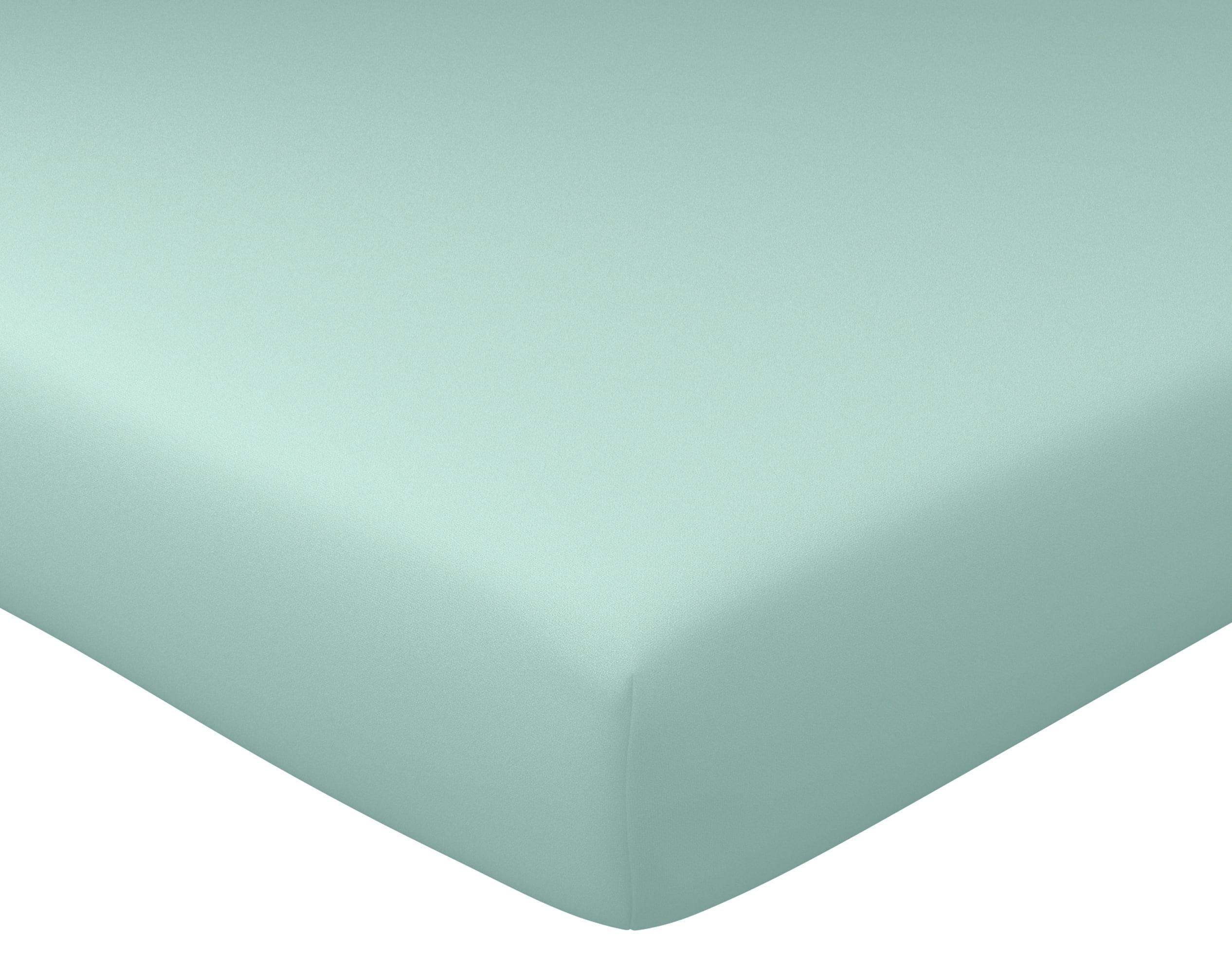 Drap-housse 90x190 en percale de coton vert céladon