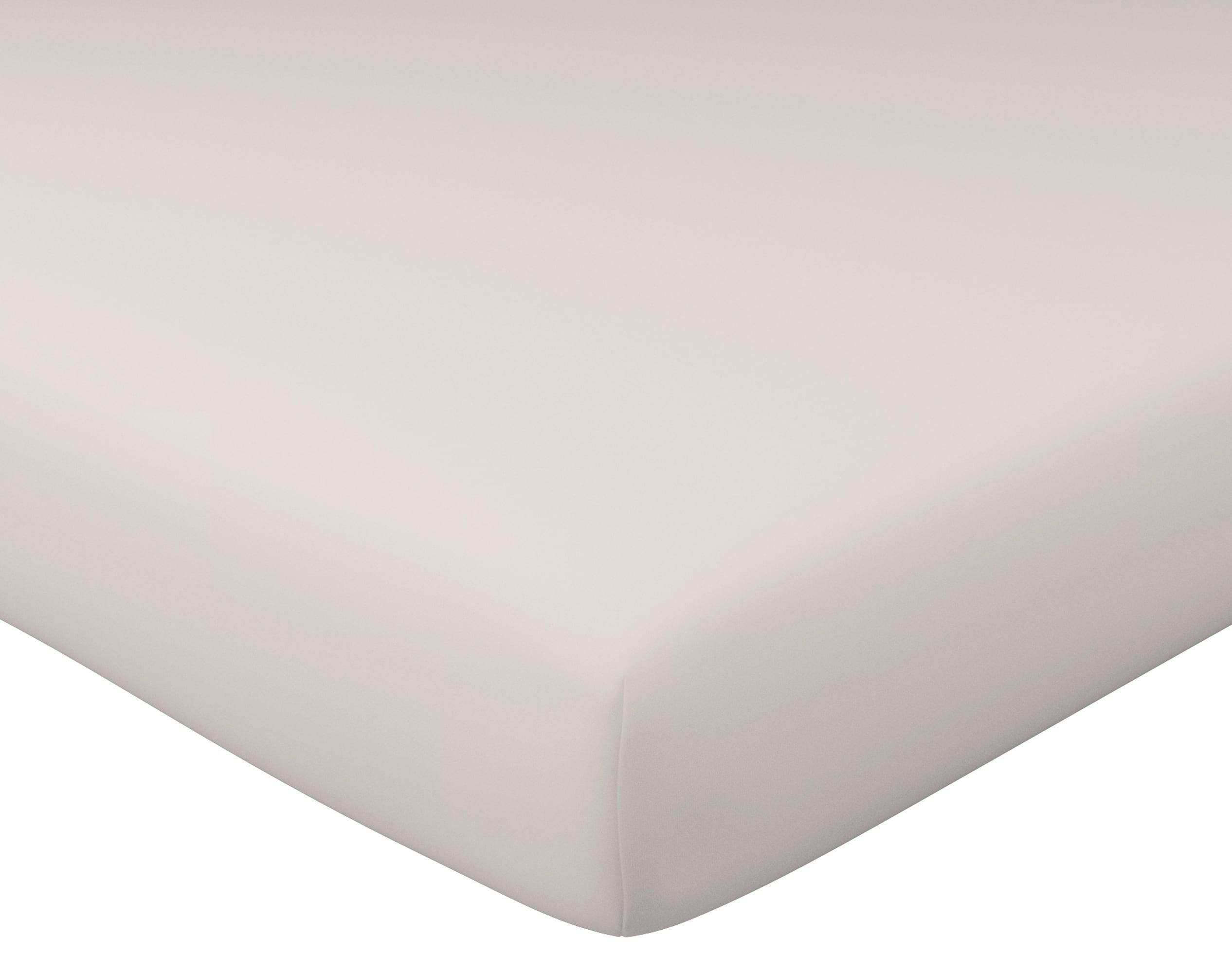 Drap-housse 140x190 en percale de coton  beige sable
