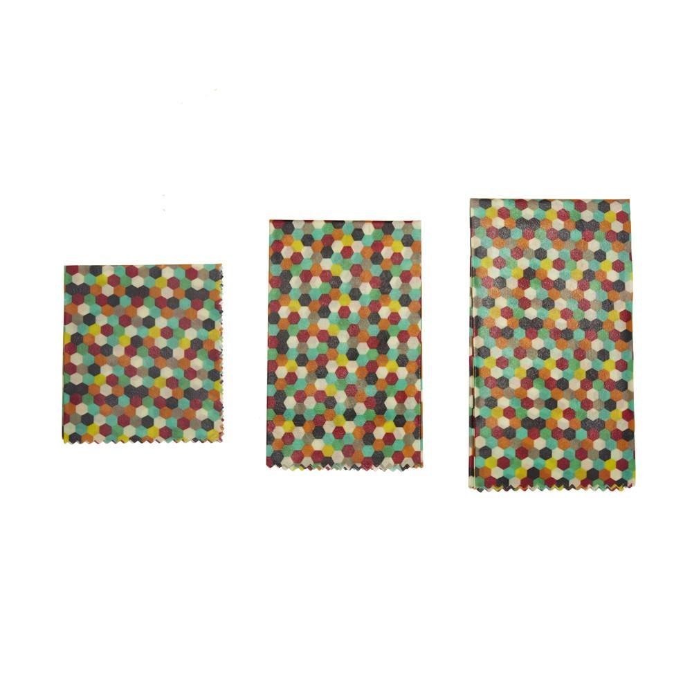Enveloppes réutilisables à la cire d'abeille multicolores