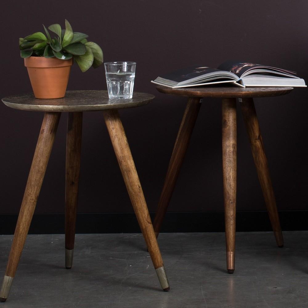 Table d'appoint vintage tripode laiton