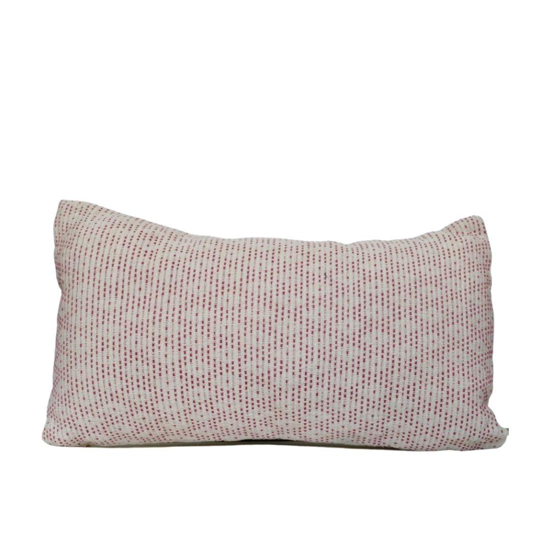 Coussin tissé en coton bleu 30x50 - PATAKALO