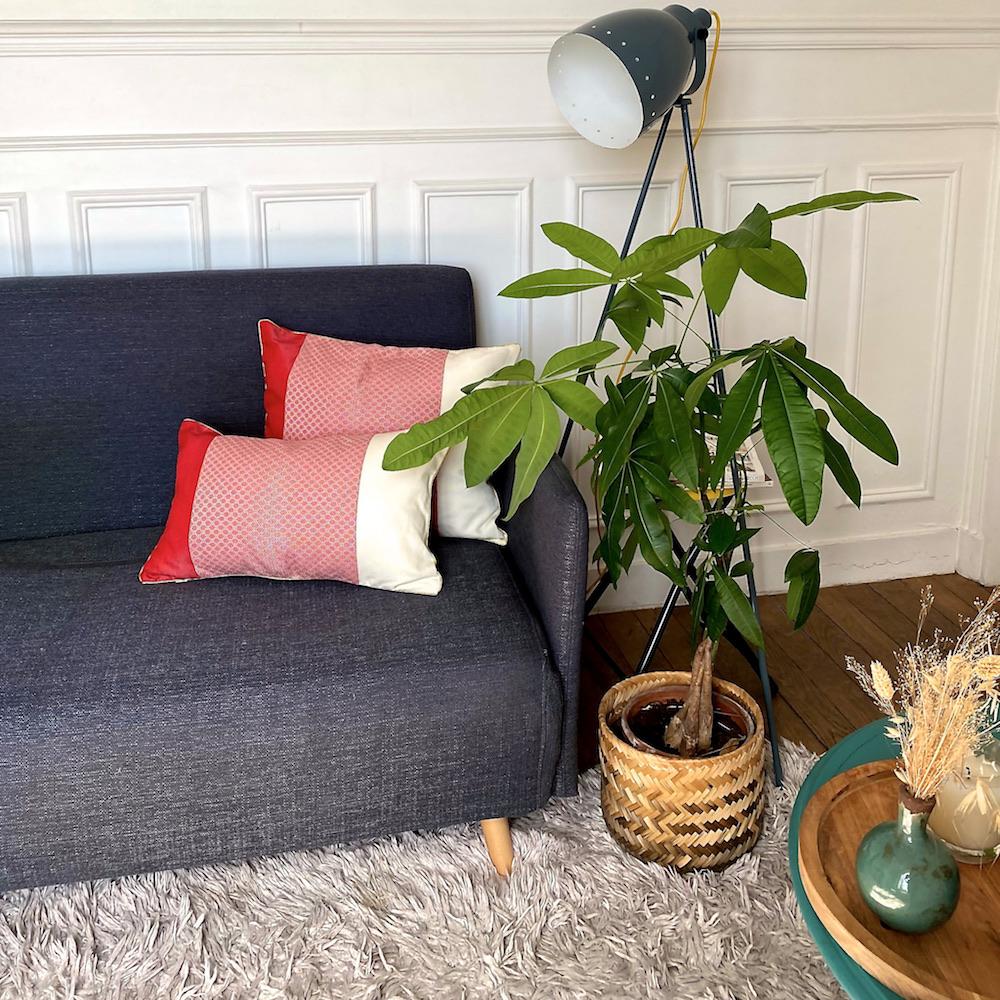 Coussin tissé en polyester rouge 40x50 - HRUH HNUE