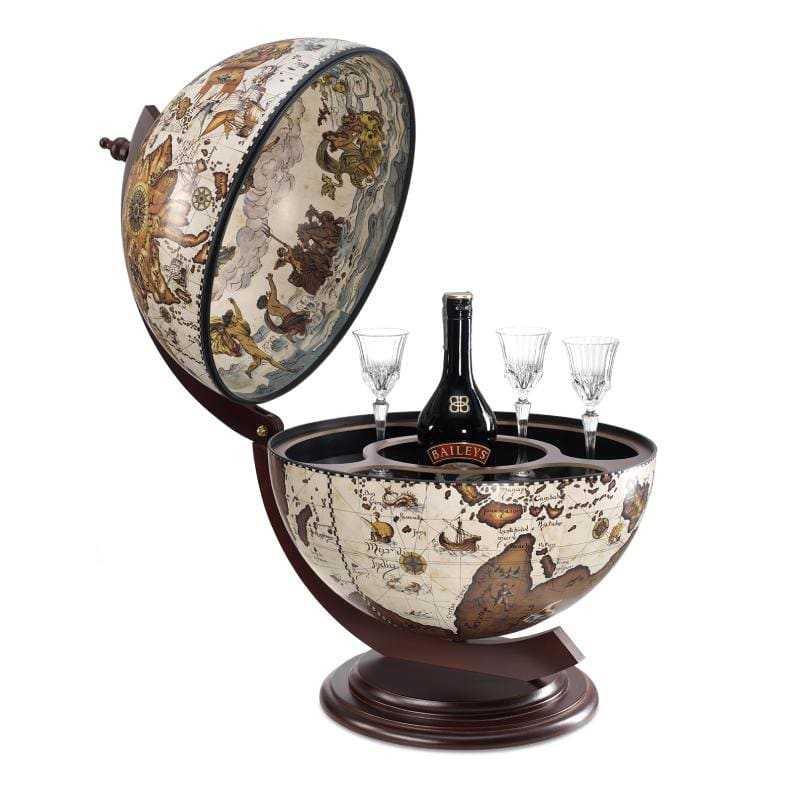 Globe bar Sfera ivory D42cm