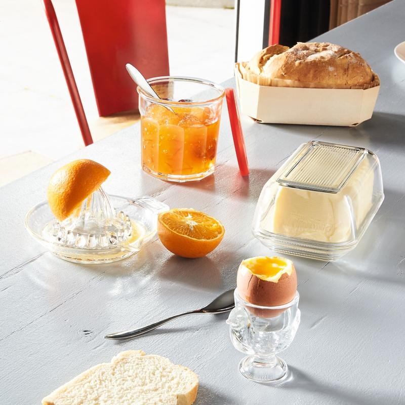 Beurrier en verre transparent 17cm