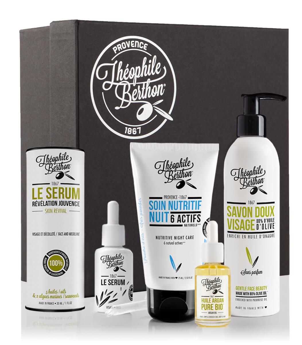Coffret 4 soins visage total repair peau sèche