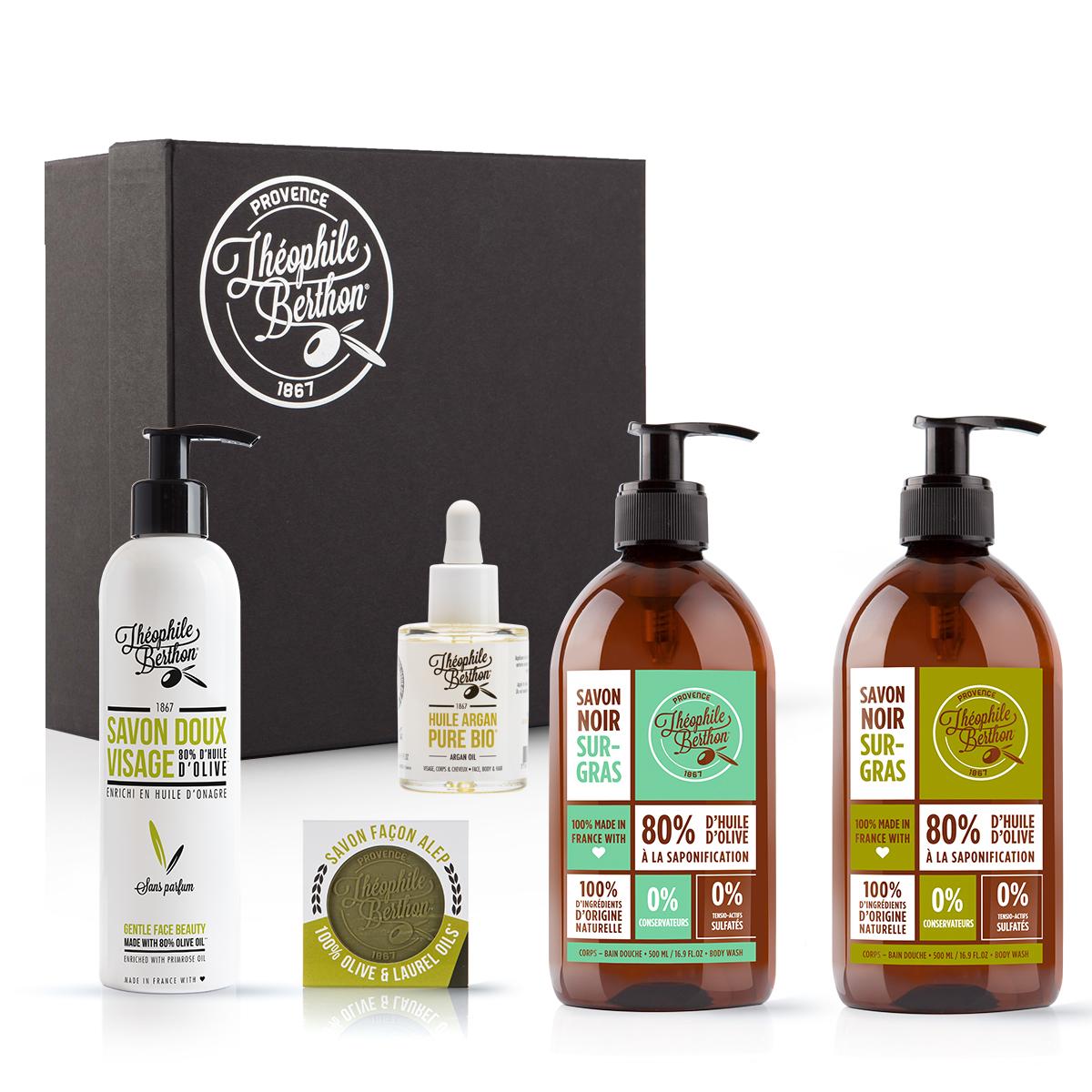 Coffret pureté - 5 Soins visage corps et savons à l'huile d'olive