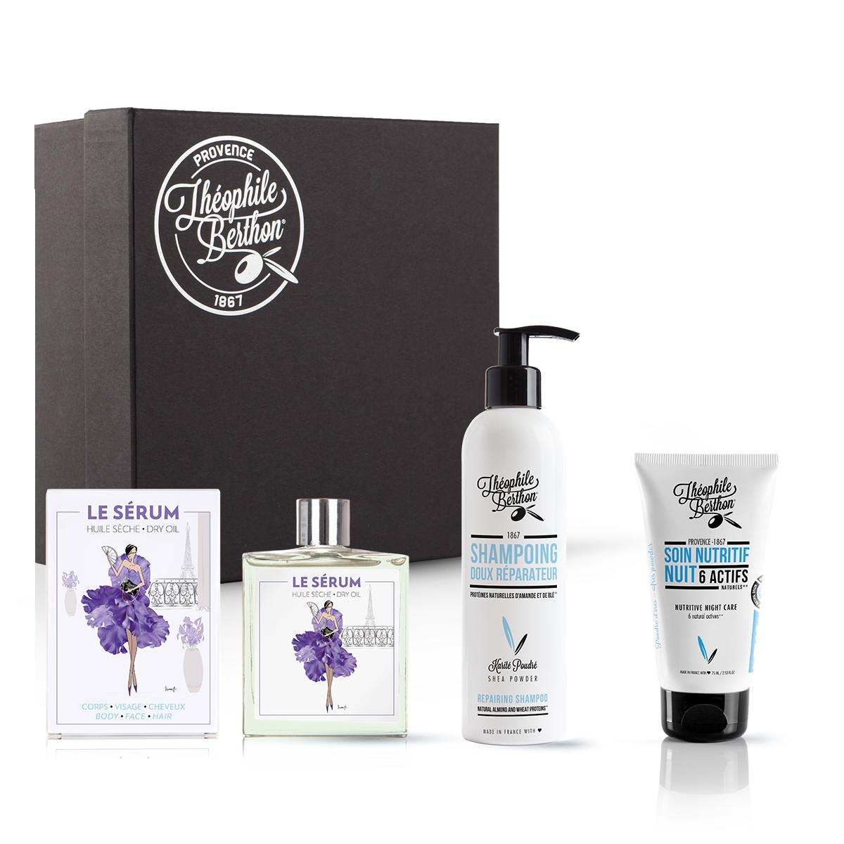 Coffret shampoing doux soin visage et huile multifonctions