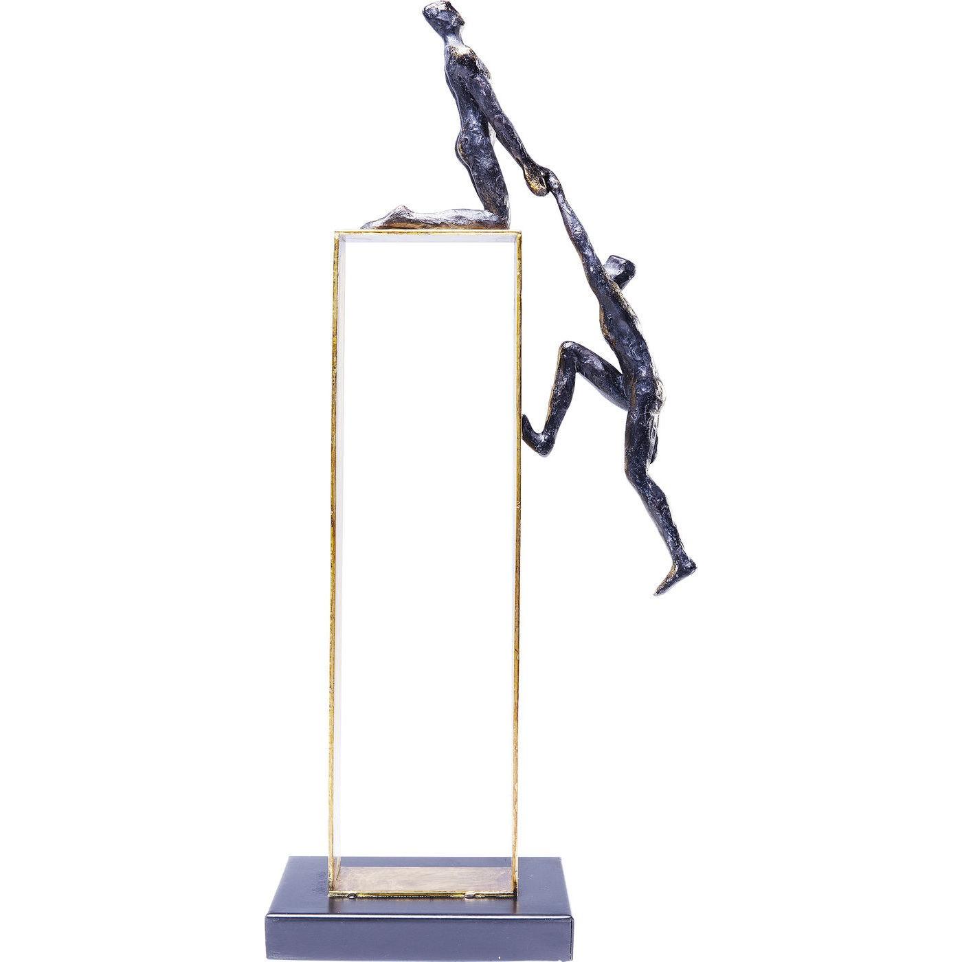 Statuette personnages en polyrésine et acier doré H51