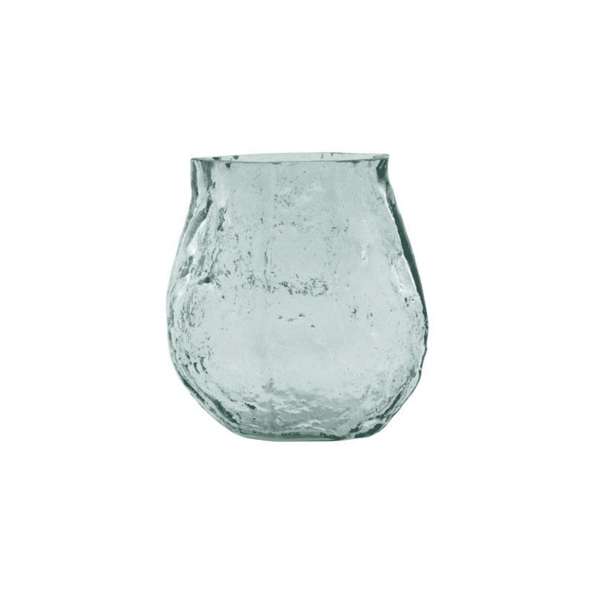 Petit vase en verre bleu H9cm