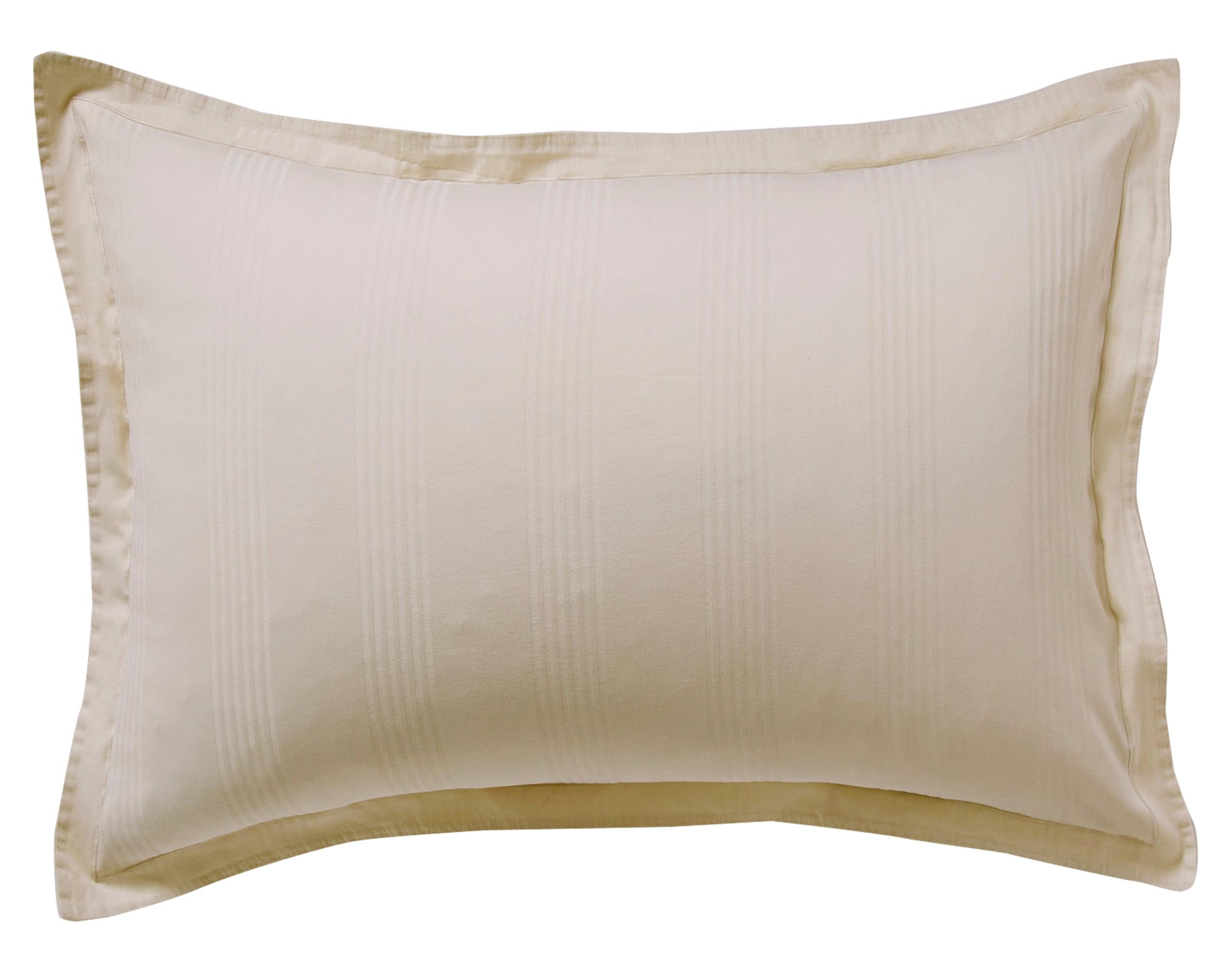 Taie d'oreiller 50x70 en satin de coton  beige