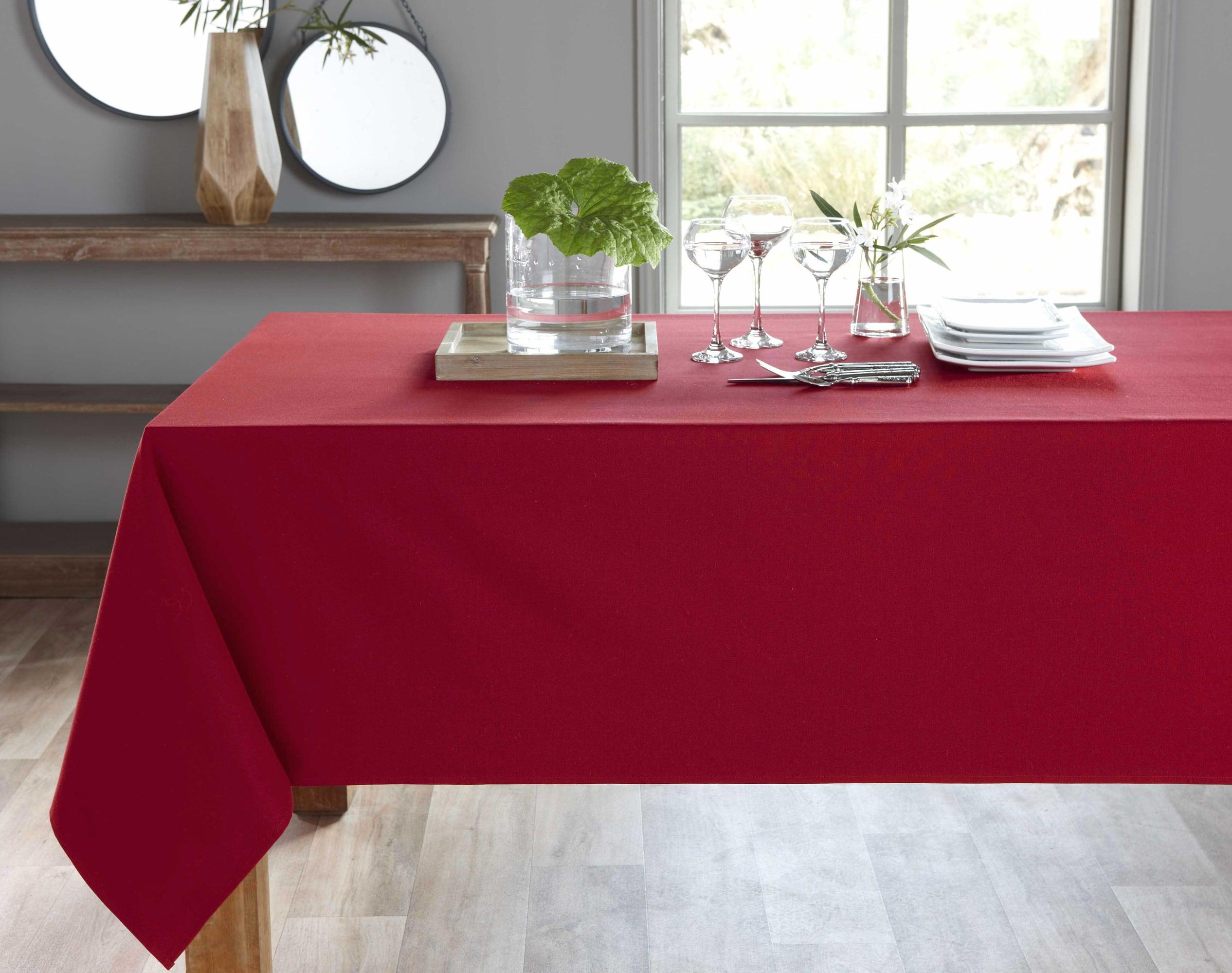Nappe ronde rose framboise en coton 235x235