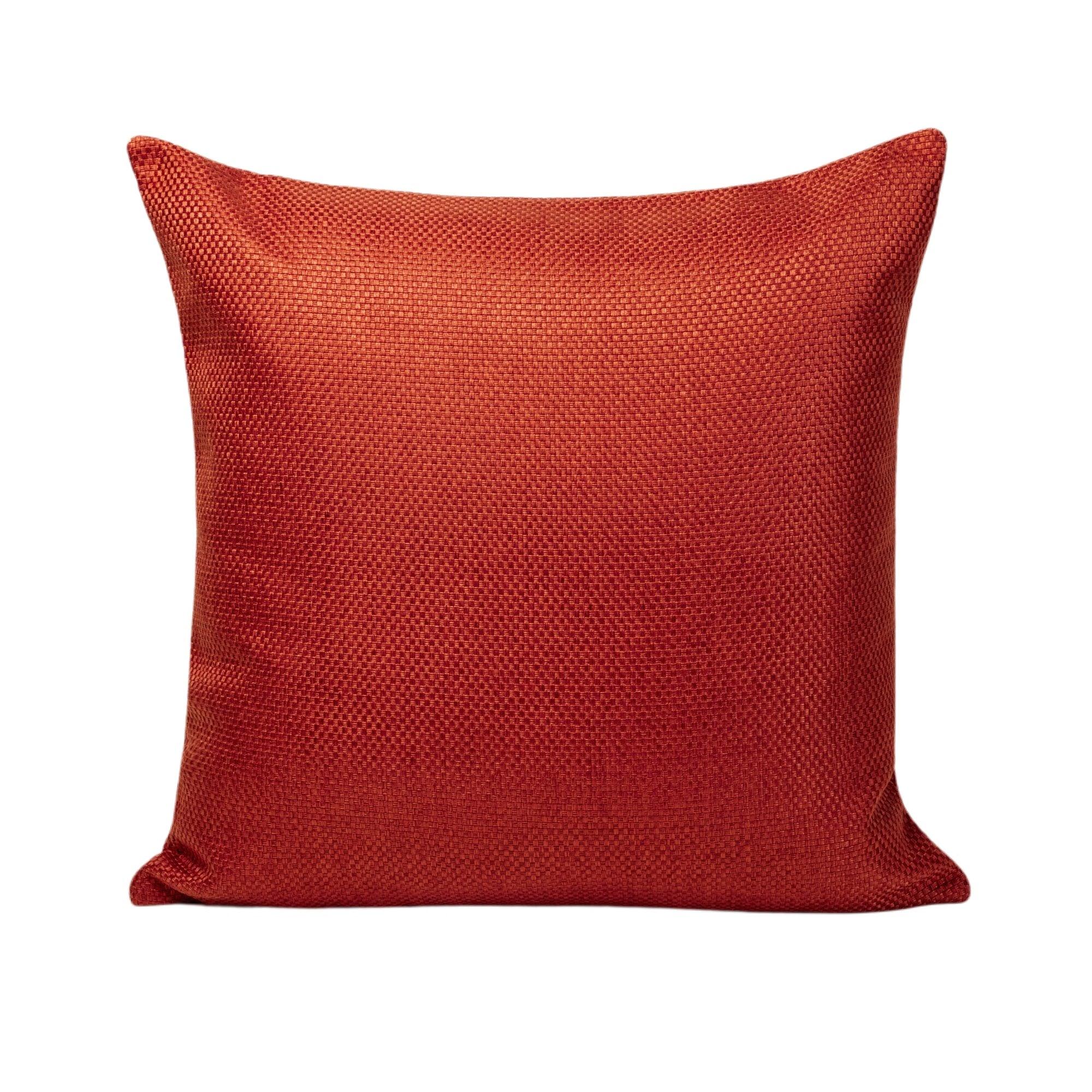 Housse de coussin 60x60 cm Orange Brique
