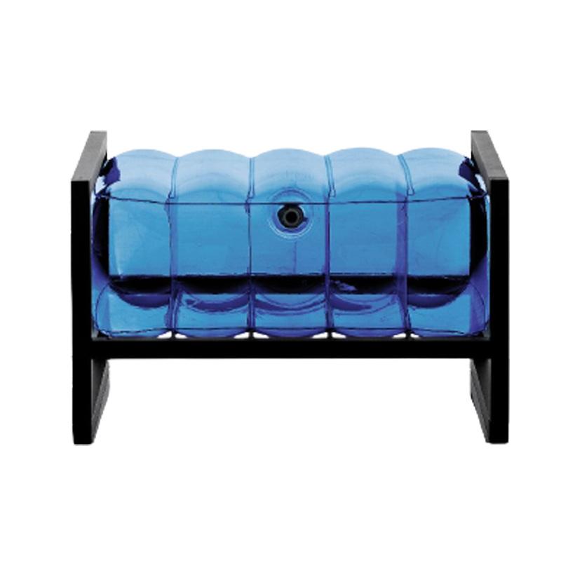 Pouf tpu bleu cadre en aluminium