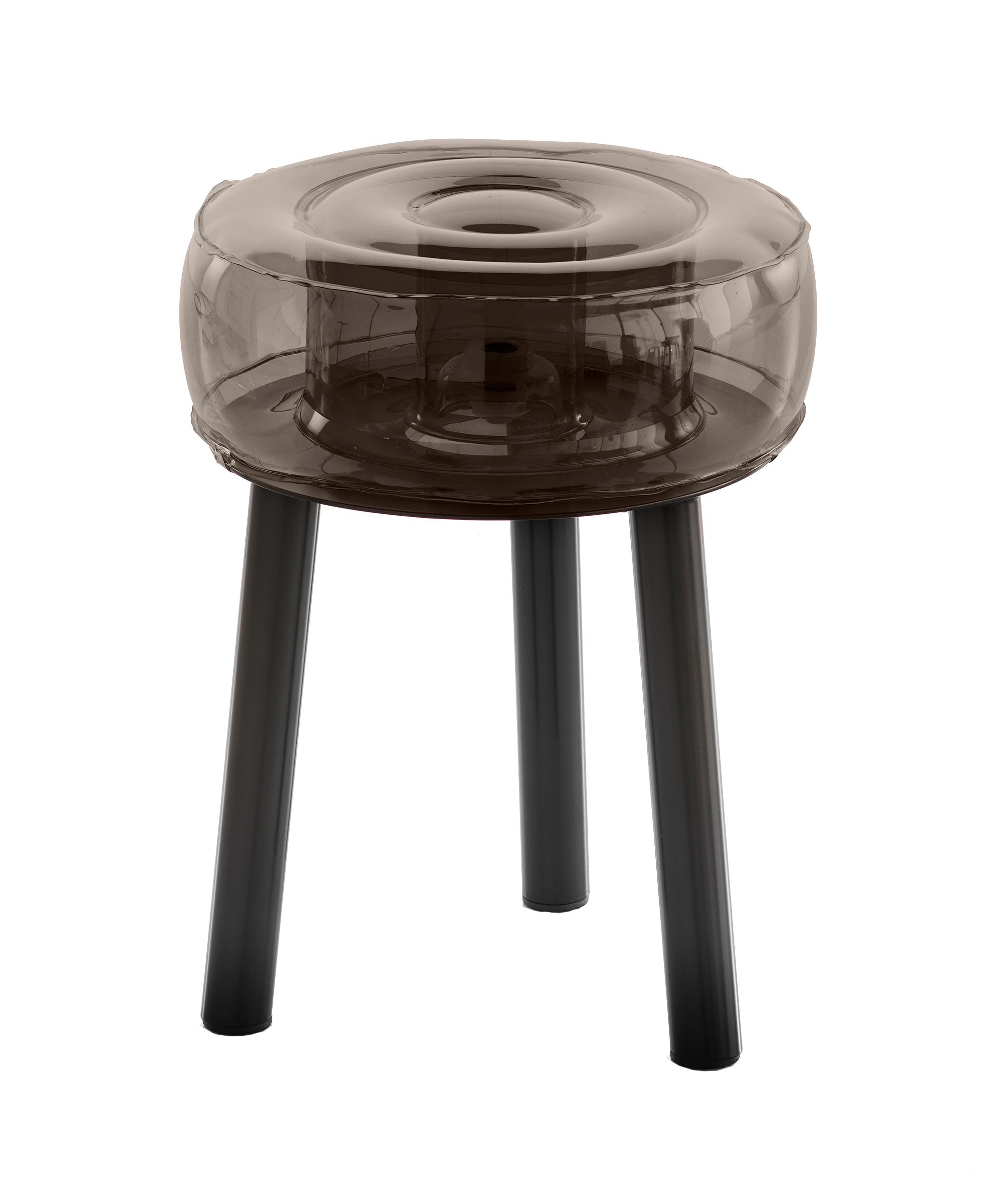 Tabouret pieds aluminium assise tpu noir
