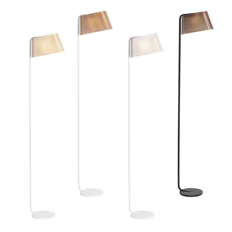 Lampadaire noir H168cm