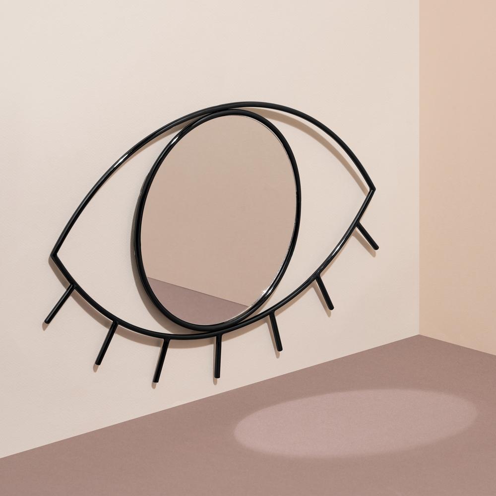 Miroir oeil en métal 39x25