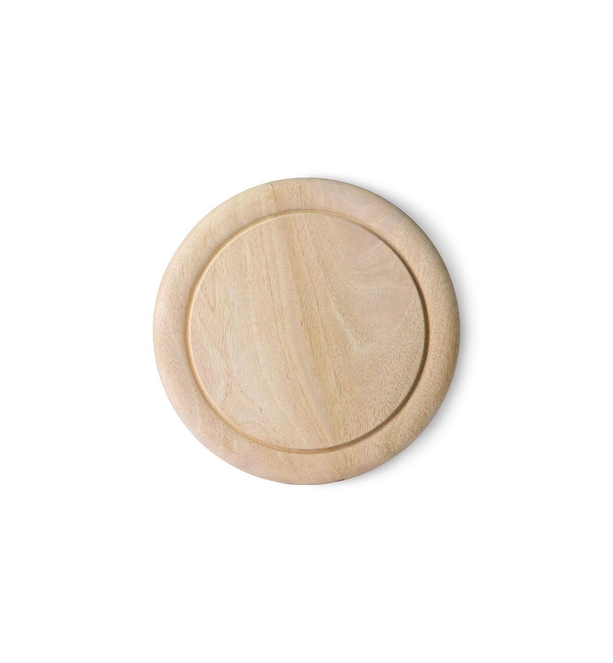 Planche à découper ronde en bois D25cm