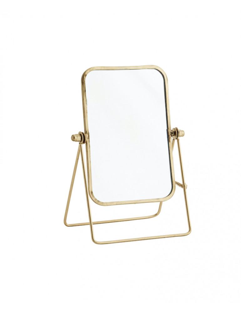 Miroir à poser en métal doré 14x19,5